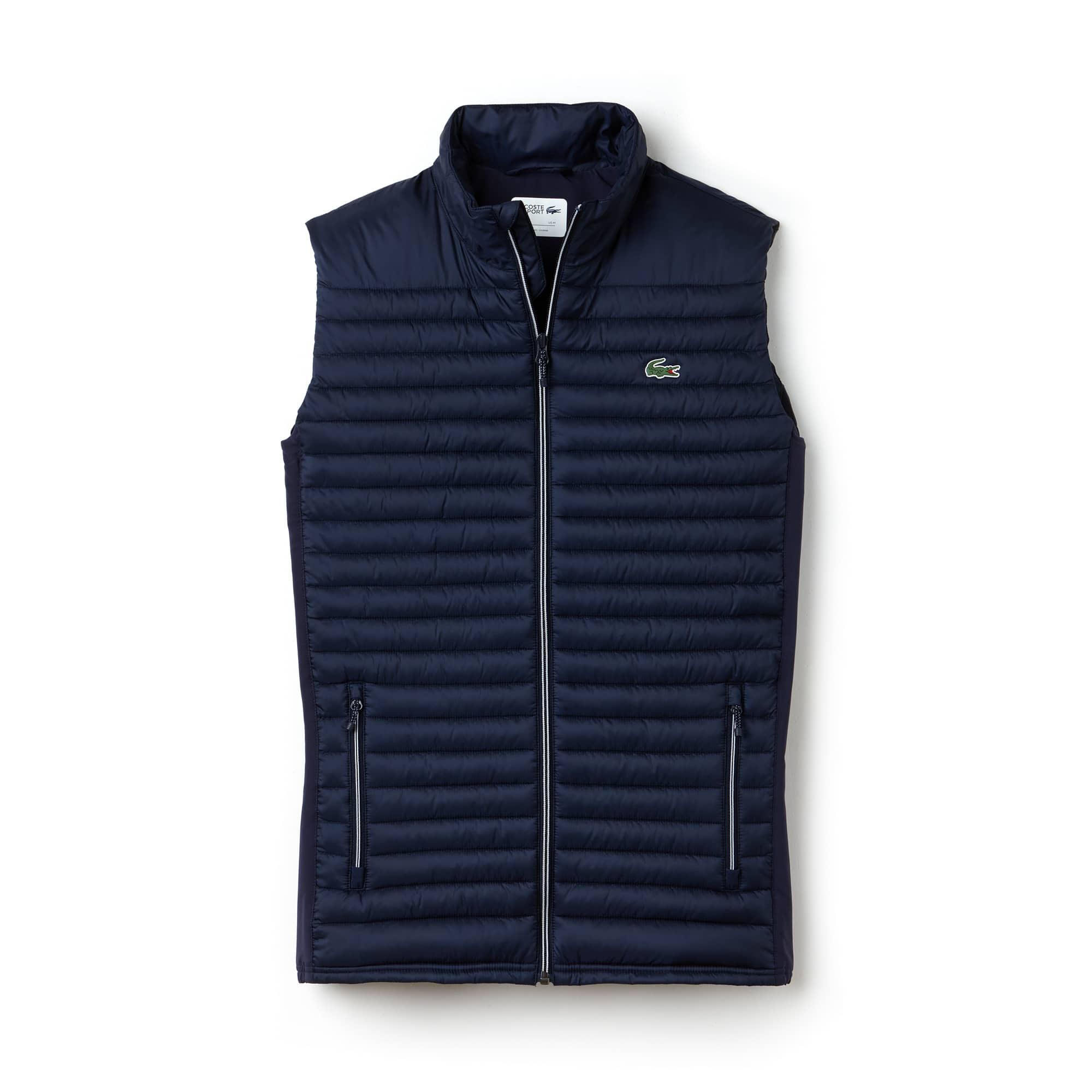 라코스테 스포츠 조끼  Lacoste Mens SPORT Golf Water-resistant Quilted Vest,navy blue/navy blue