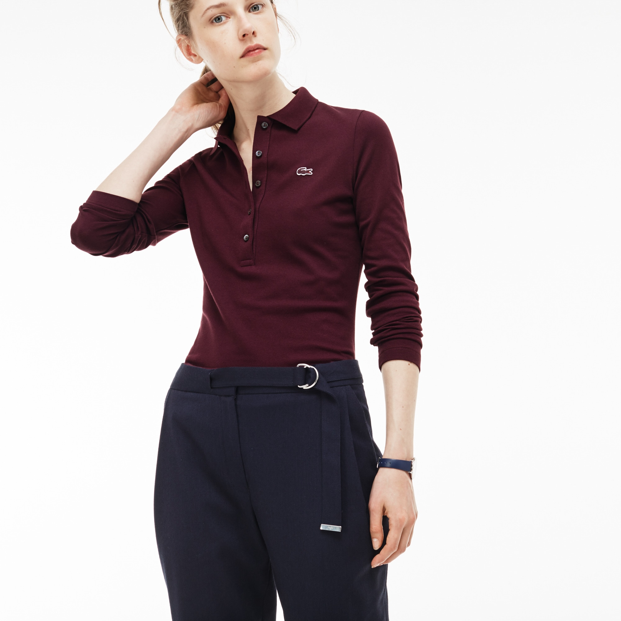 Women's  Slim Fit Stretch Mini Piqué Polo