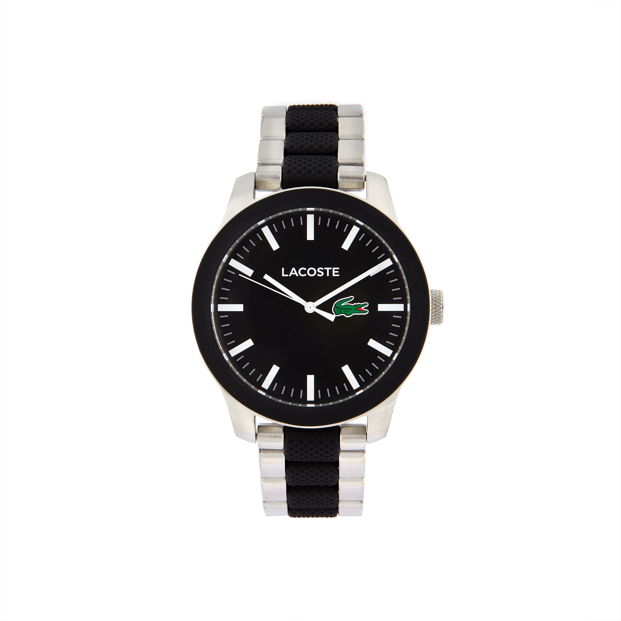 892617813 Unisex Lacoste.12.12 Mixed Material Black Watch. $195.00. Women's Lacoste  12.12 White Rubber Strap