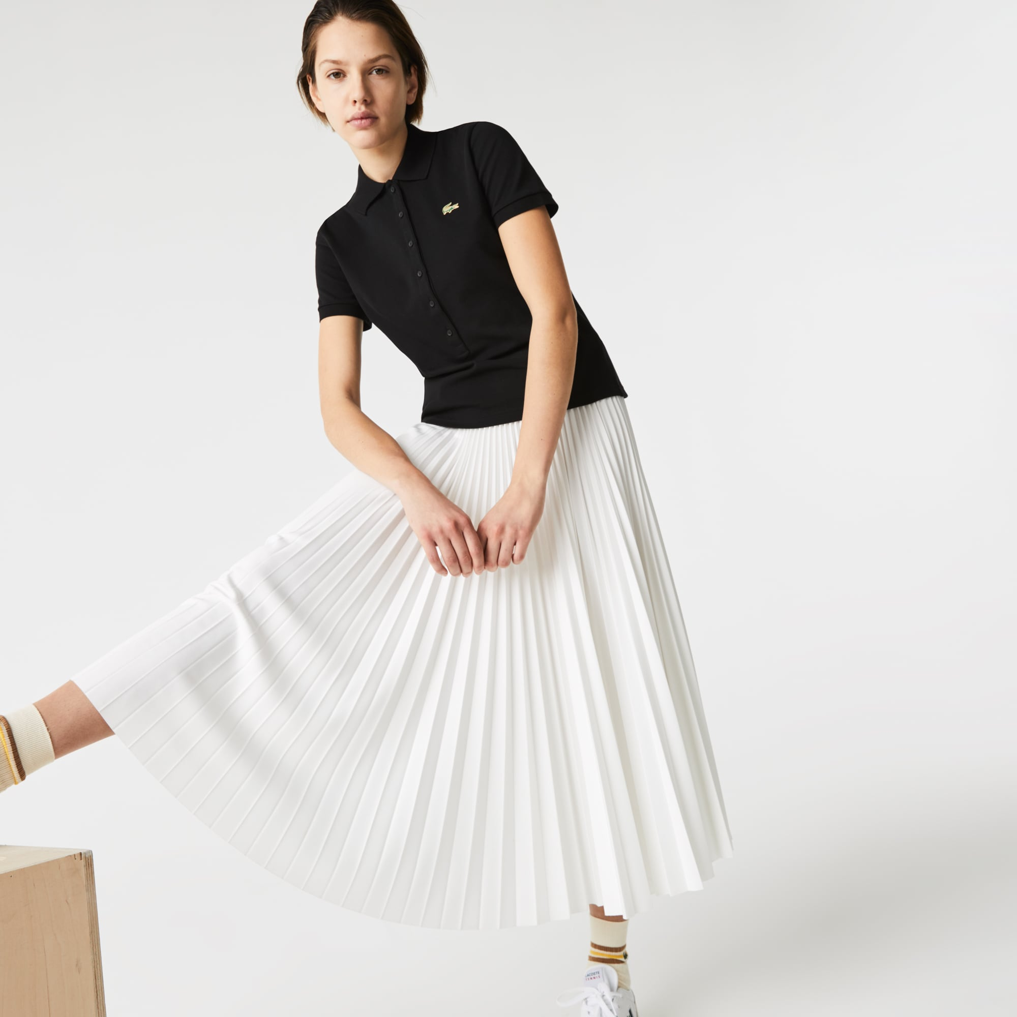 Lacoste Women's LIVE Slim Fit Stretch Cotton Pique Polo Shirt