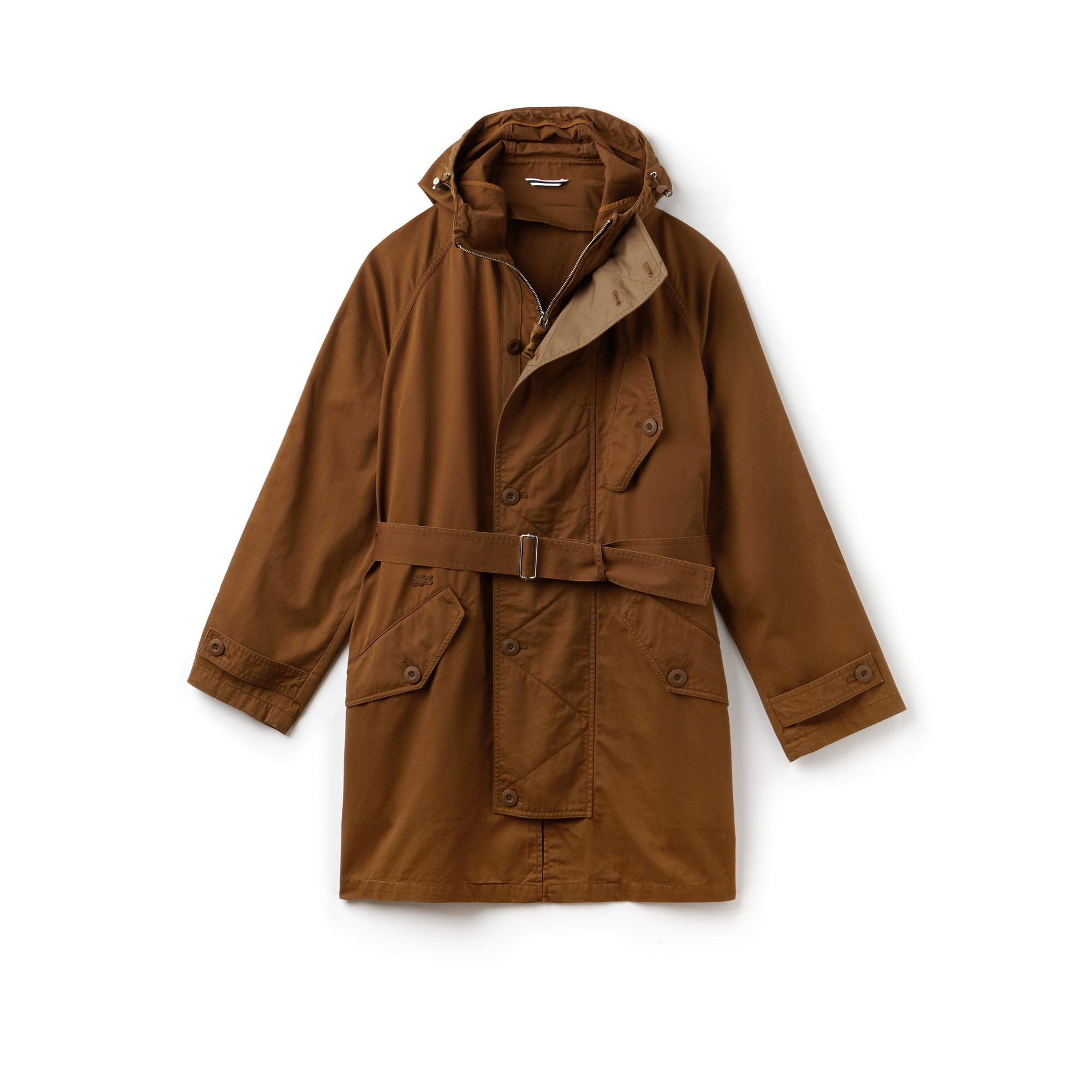 Men's Hooded Oversized Twill Parka
