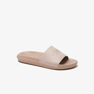 라코스테 우먼 슬라이드 Lacoste Womens Croco Slides,NATURAL/NATURAL