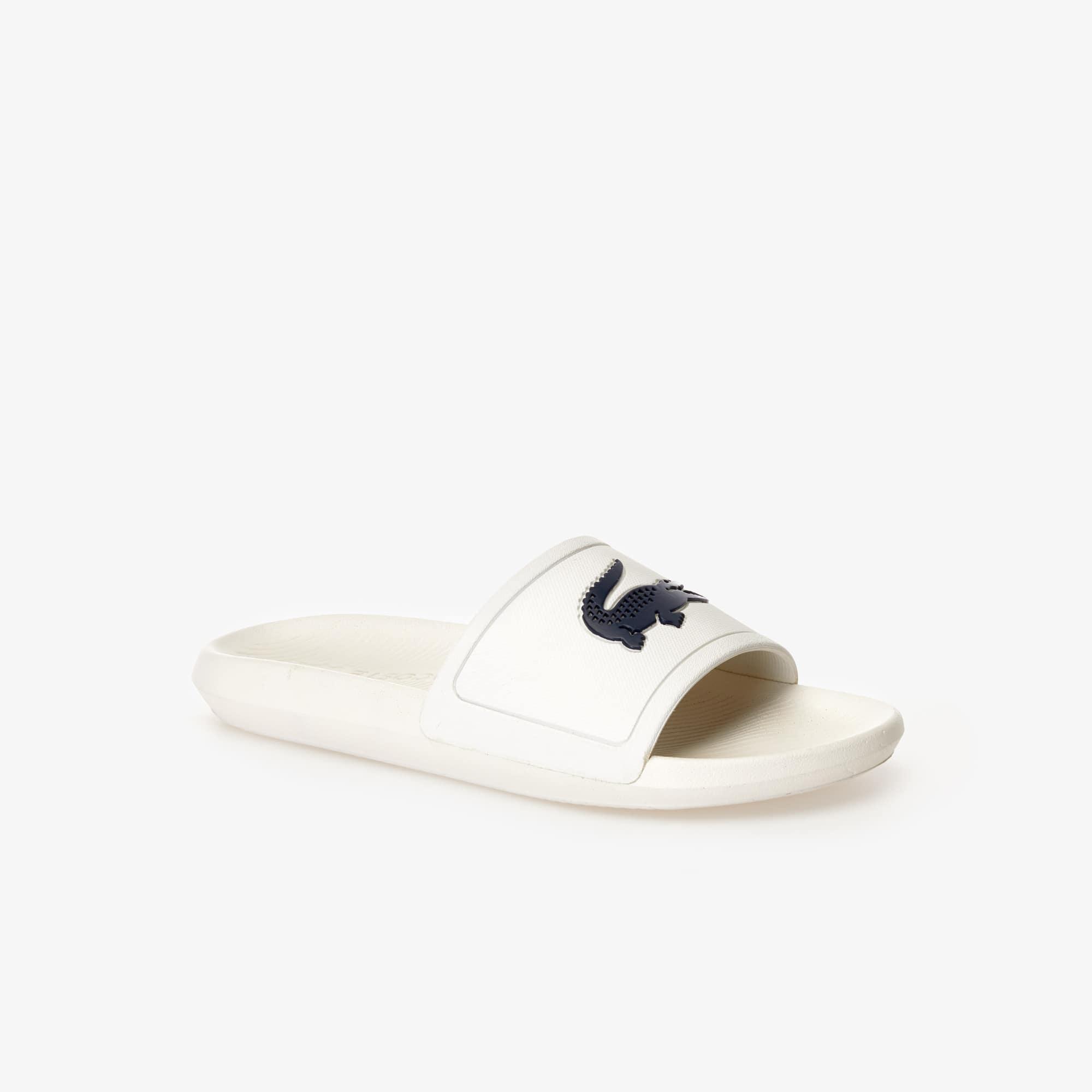 Lacoste  Men's Croco Rubber Slides