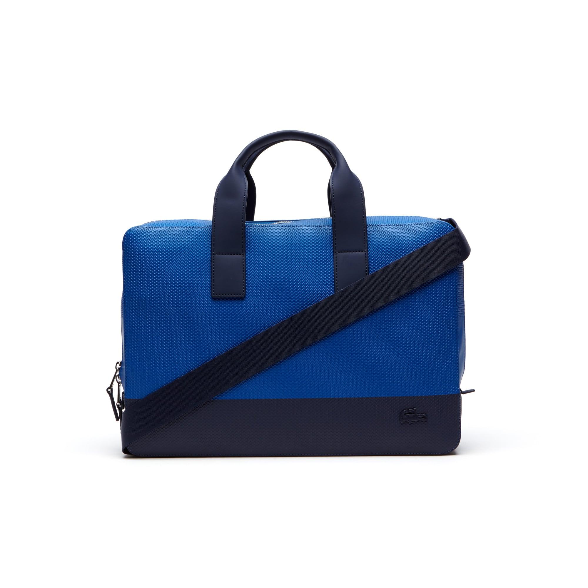 Men's Chantaco Colorblock Piqué Coated Leather Computer Bag