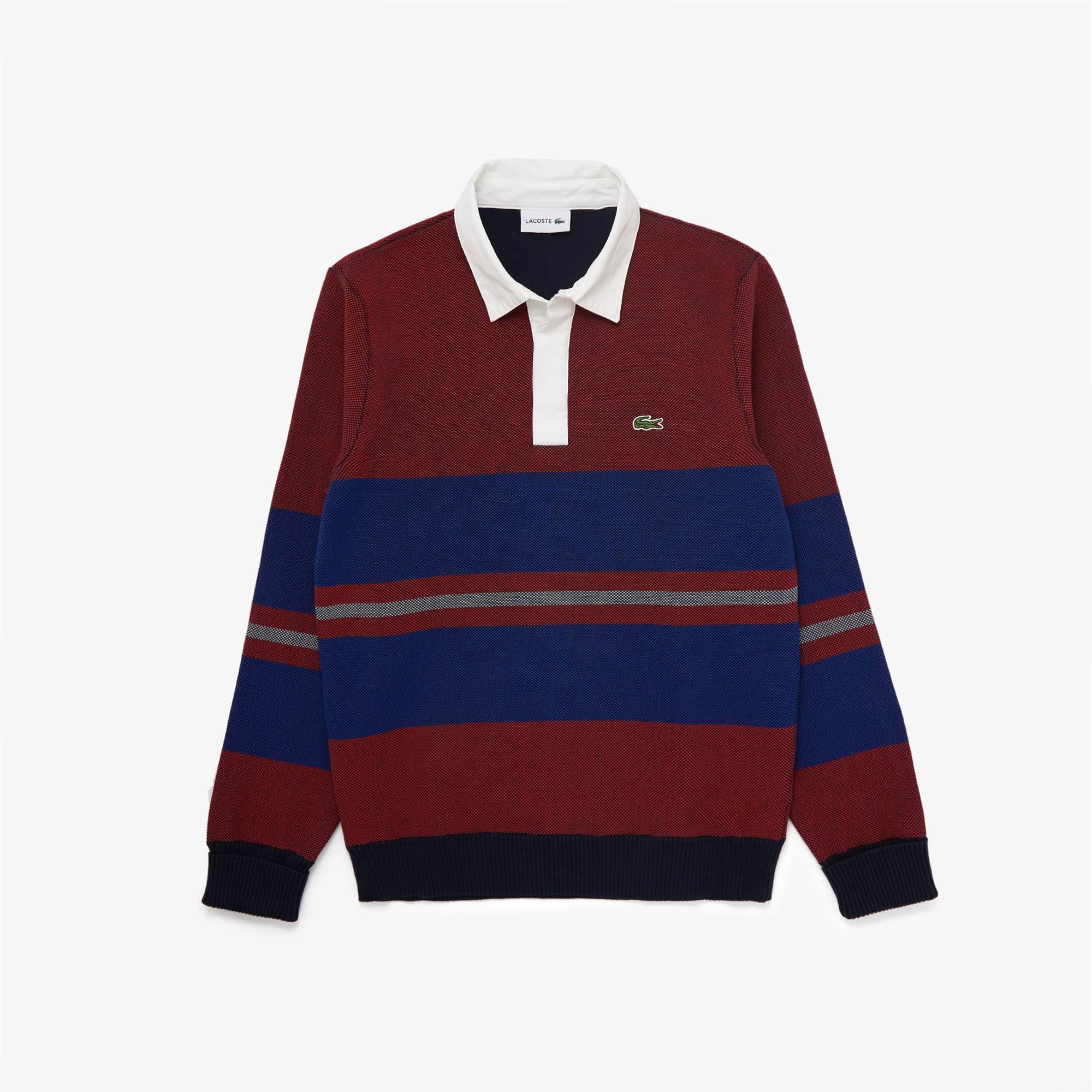라코스테 Lacoste Men's Striped Rugby Sweater