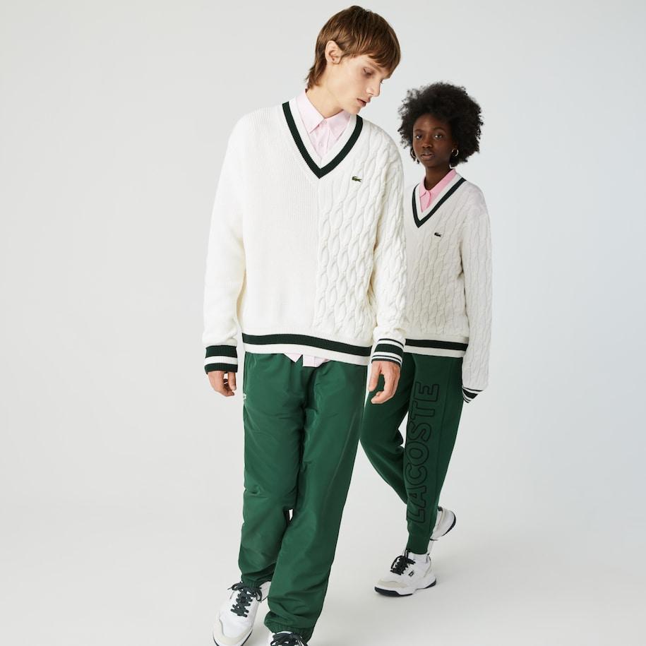 Unisex LIVE Wool Blend V-neck Sweater