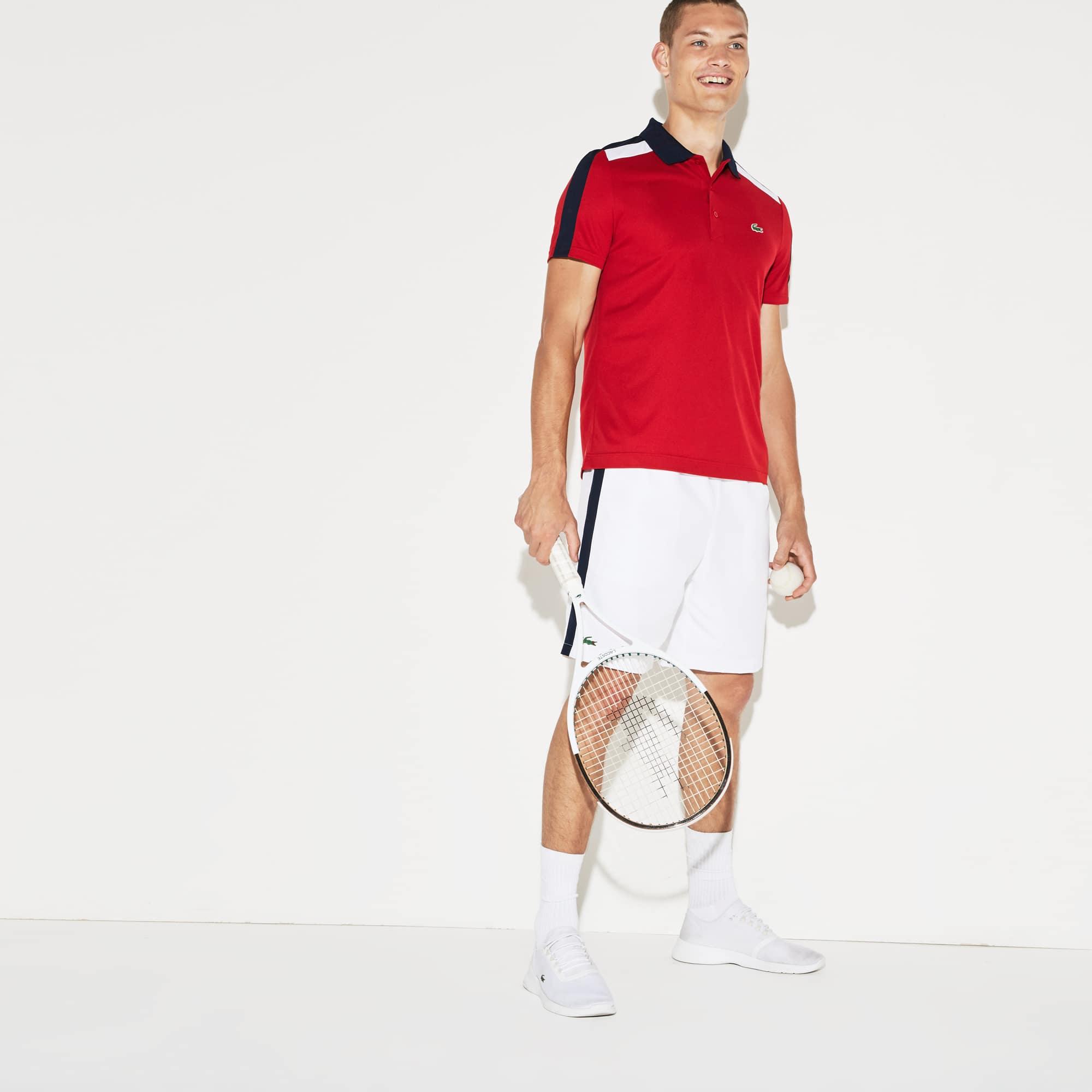 Men's SPORT Colored Bands Taffeta Tennis Shorts
