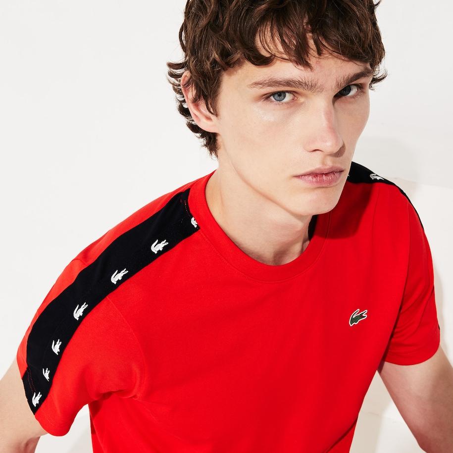 Men's SPORT Crocodile-Stripe T-Shirt