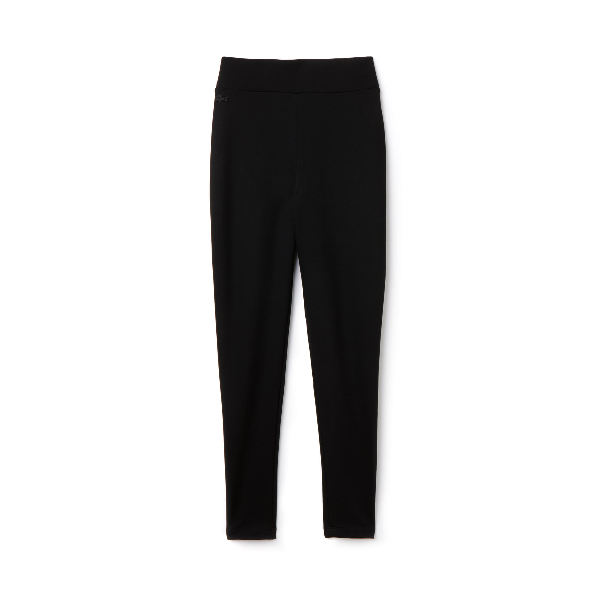 라코스테 바지 Lacoste Womens Milano Knit Leggings,BLACK
