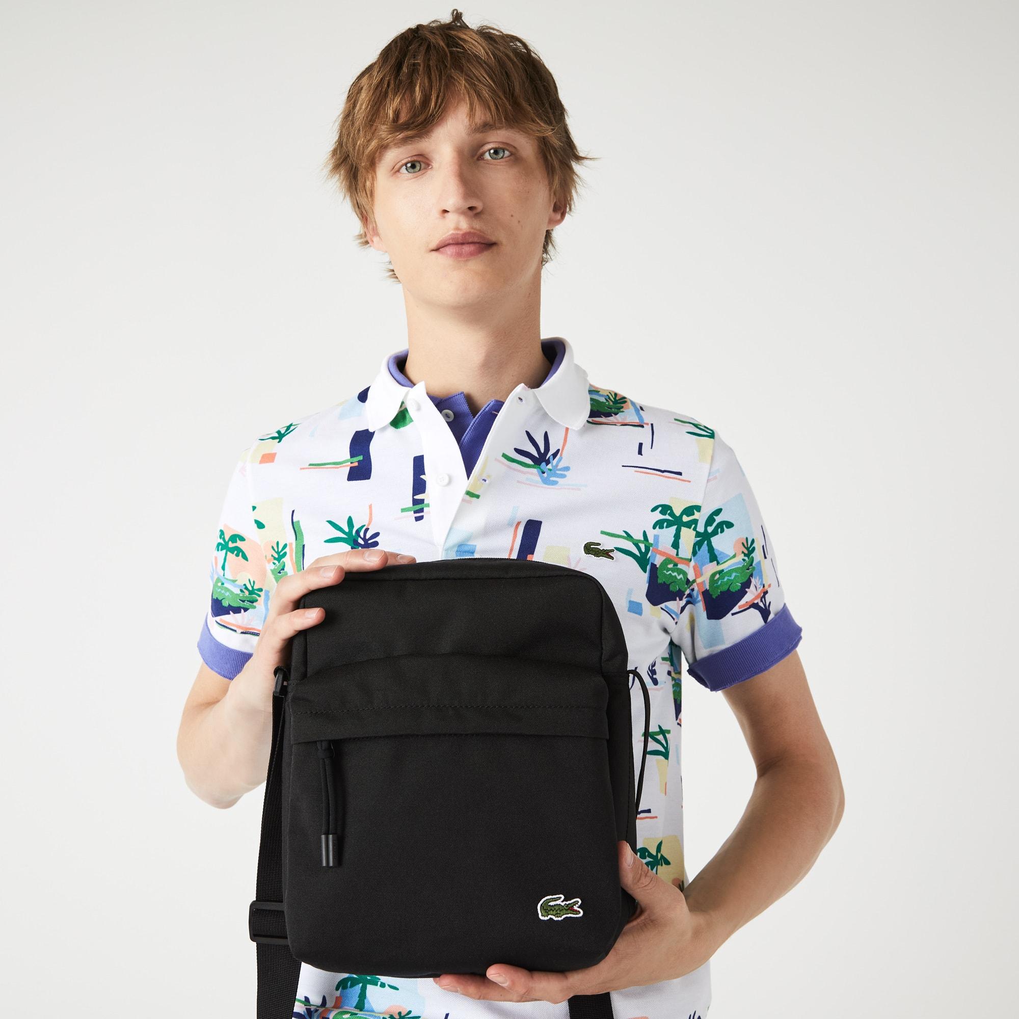 라코스테 Lacoste Mens Neocroc Canvas Zip Bag