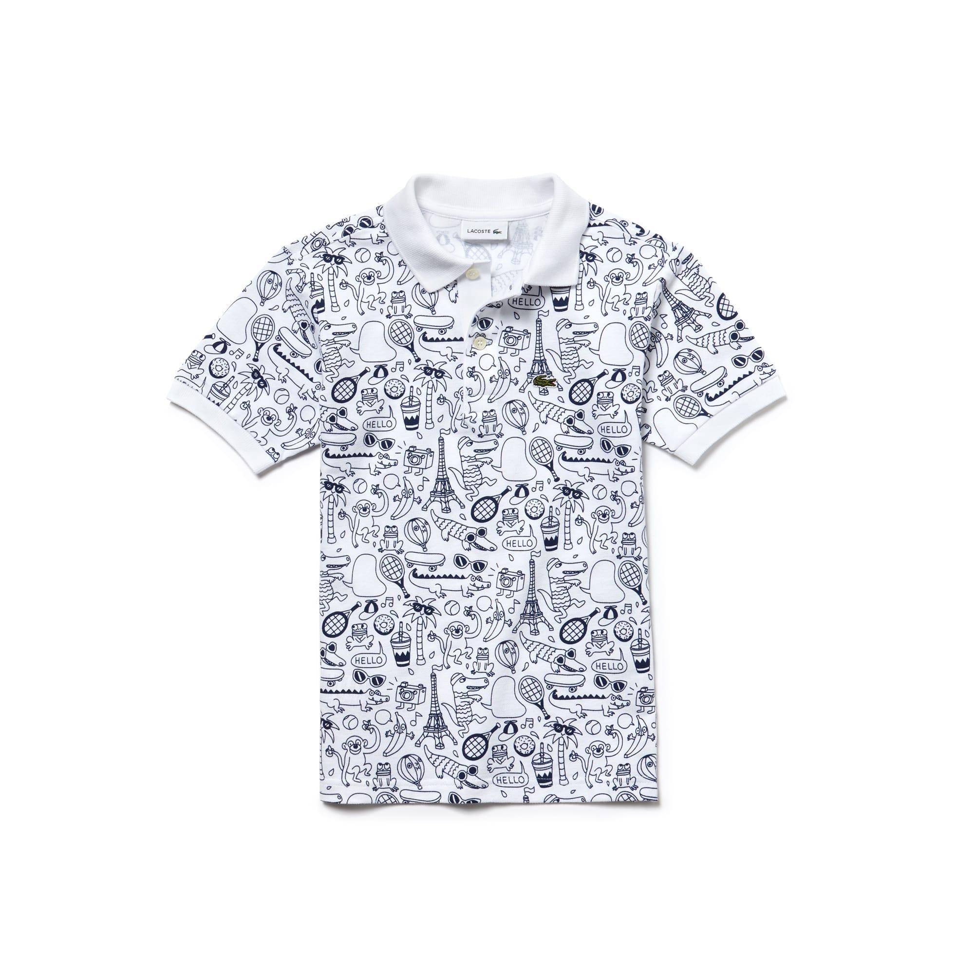Boys' OMY Edition Mini Piqué Print Polo