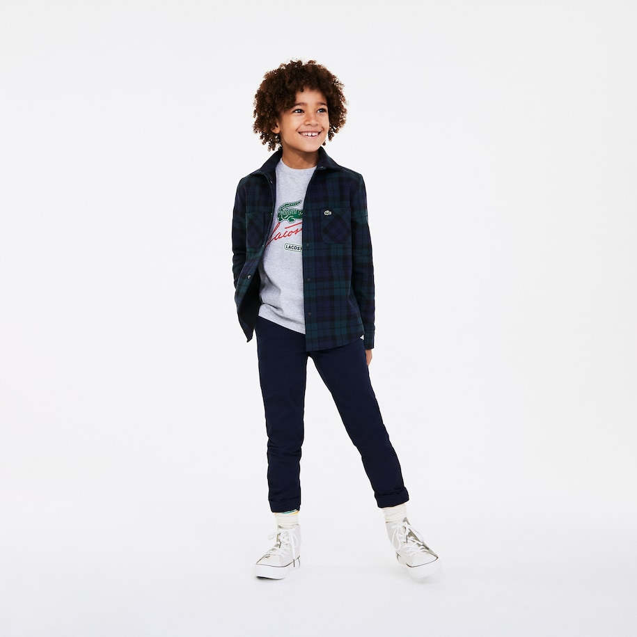 Boys' Print And Embroidered Cotton T-shirt
