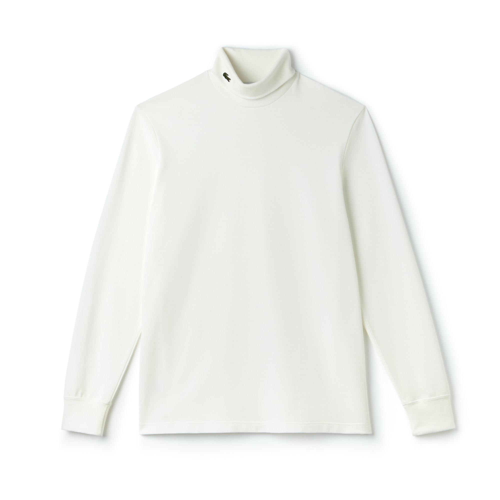 Men's Turtleneck Cotton Piqué T-shirt