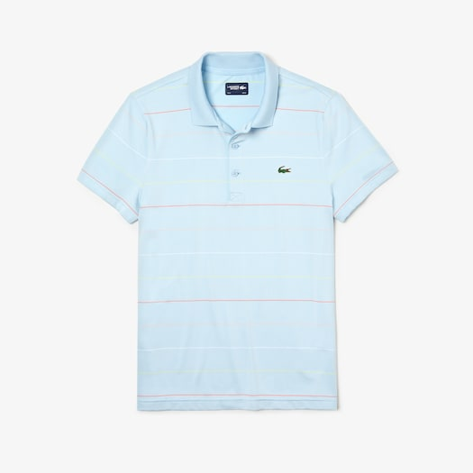 라코스테 Lacoste Mens SPORT Technical Jersey Golf Polo,Light Blue / Red / Pink / White / Yellow - 6Q5 (Se