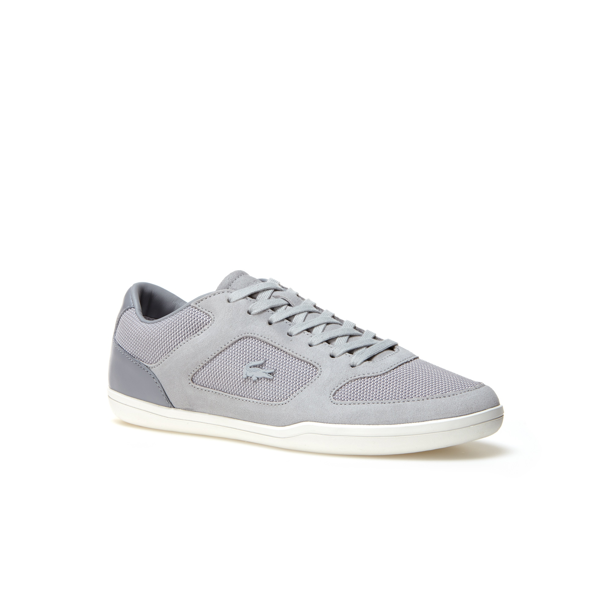 Men's Court-minimal Bicolor Canvas And Suede Sneakers