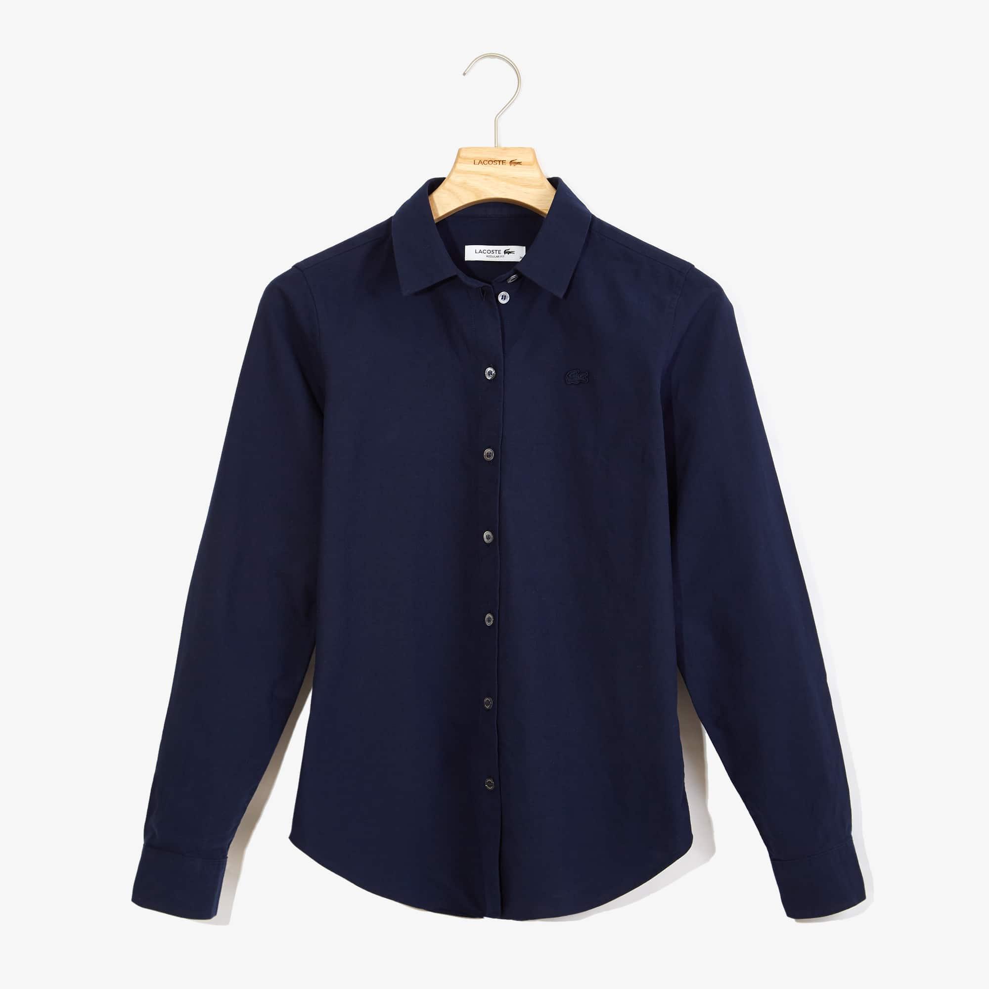 Lacoste Tops Women's Regular Fit Oxford Cotton Shirt