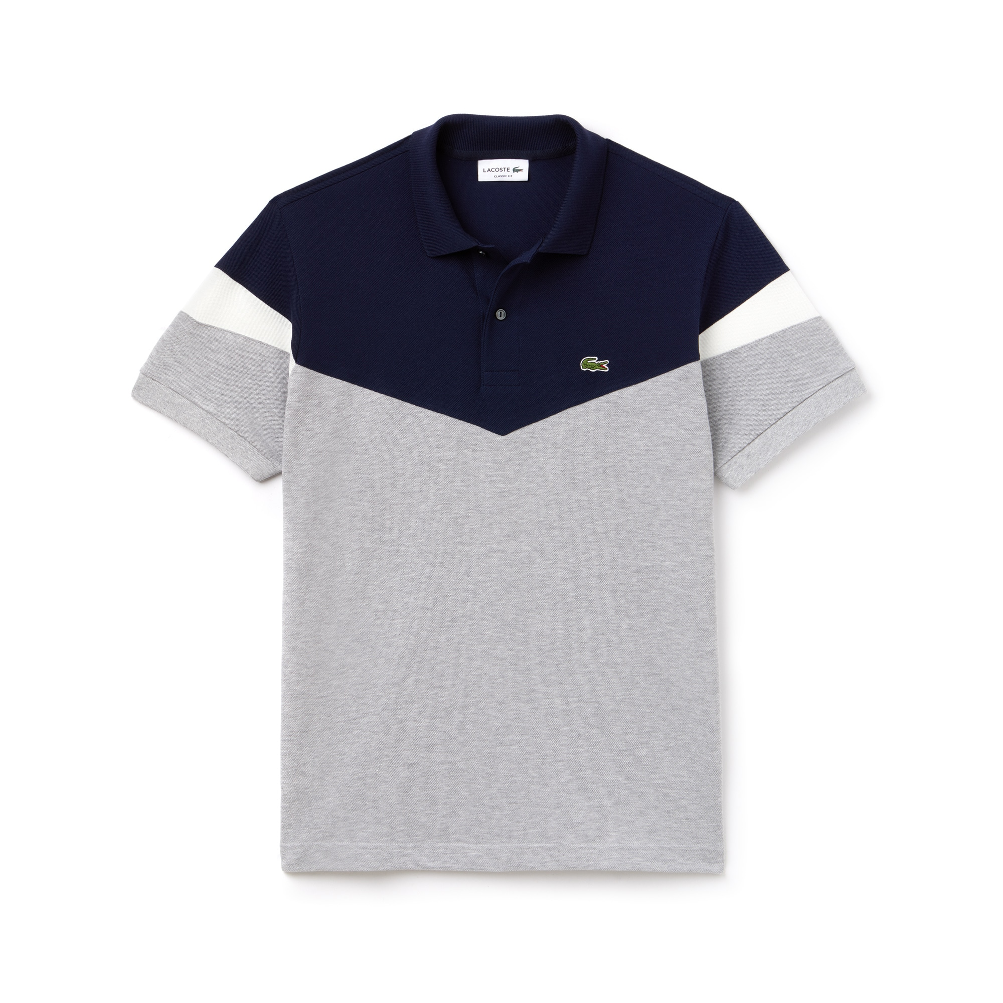 Men's Classic Fit Colorblock Cotton Petit Piqué Polo