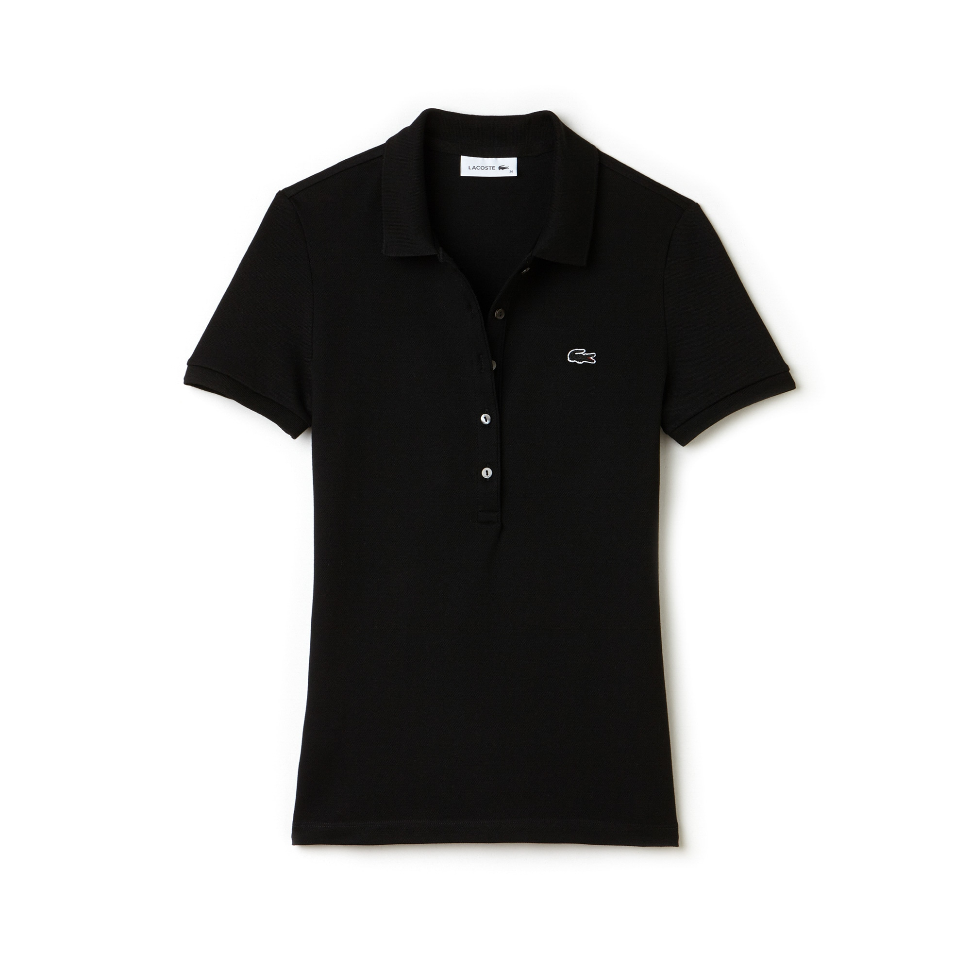 77c7eb0416 Women's Slim Fit Stretch Mini Cotton Piqué Polo Shirt