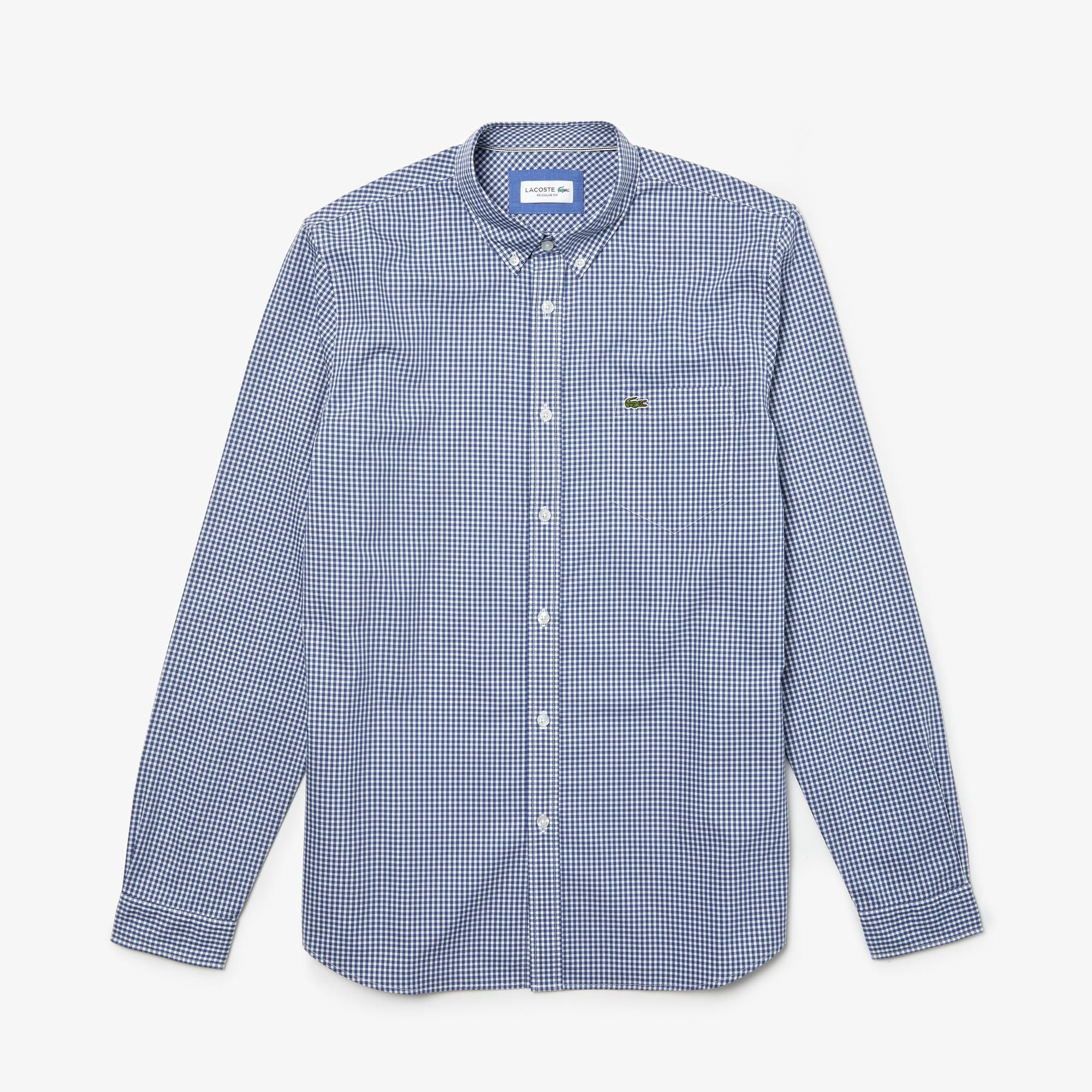 Men's Motion Regular Fit Check Poplin Shirt
