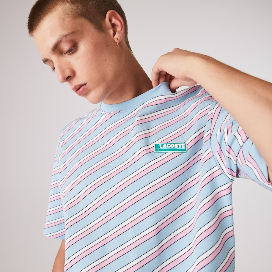 Unisex LIVE Colored Stripe Cotton T-shirt