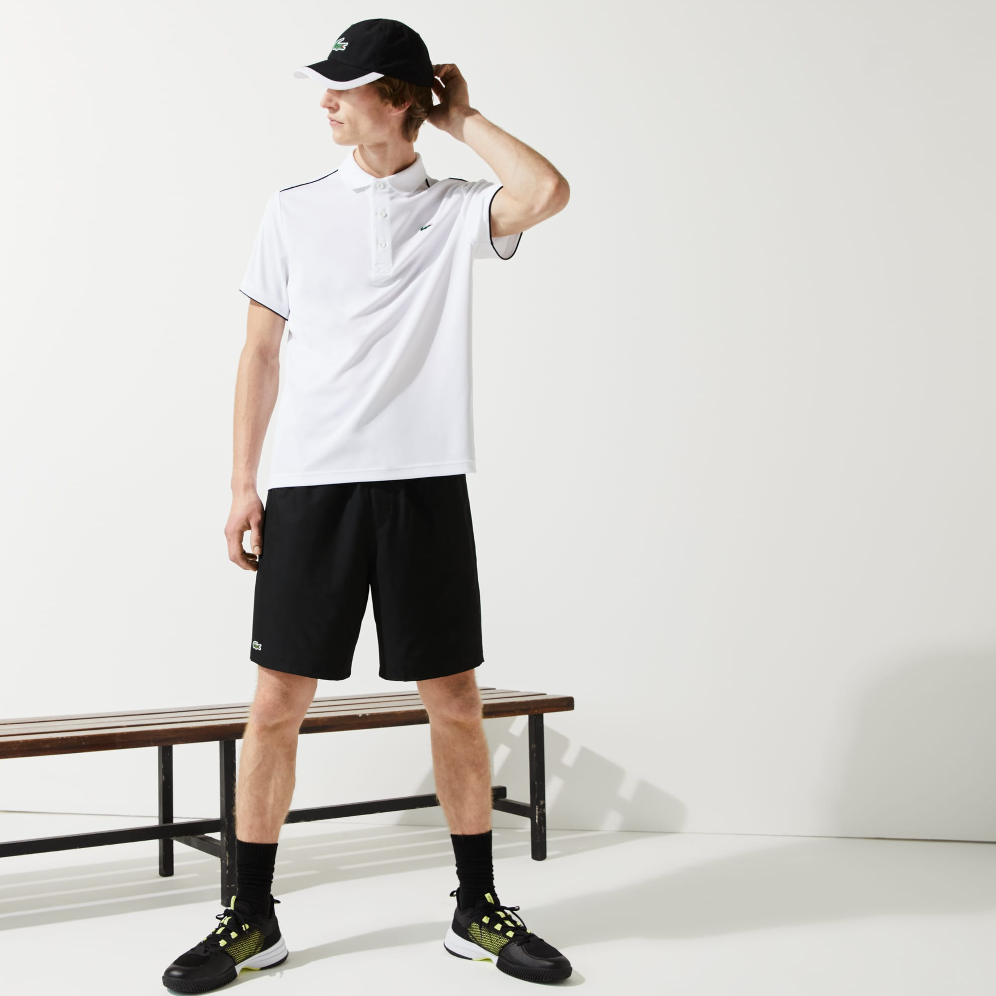a0551789e468c Lacoste Men s Sport Tennis Shorts In Black