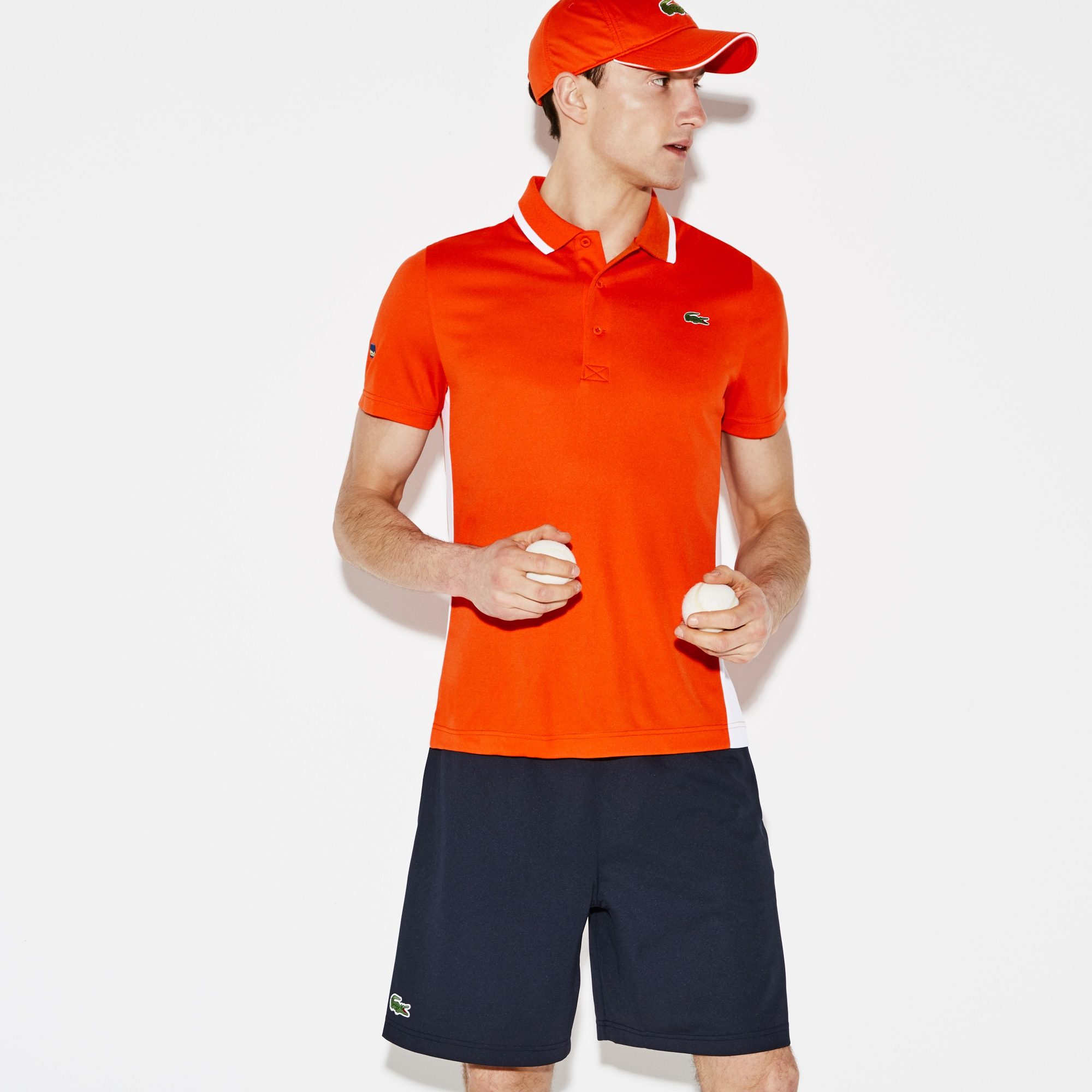 Men's SPORT Miami Open Oversized Croc Tech Piqué Tennis Polo