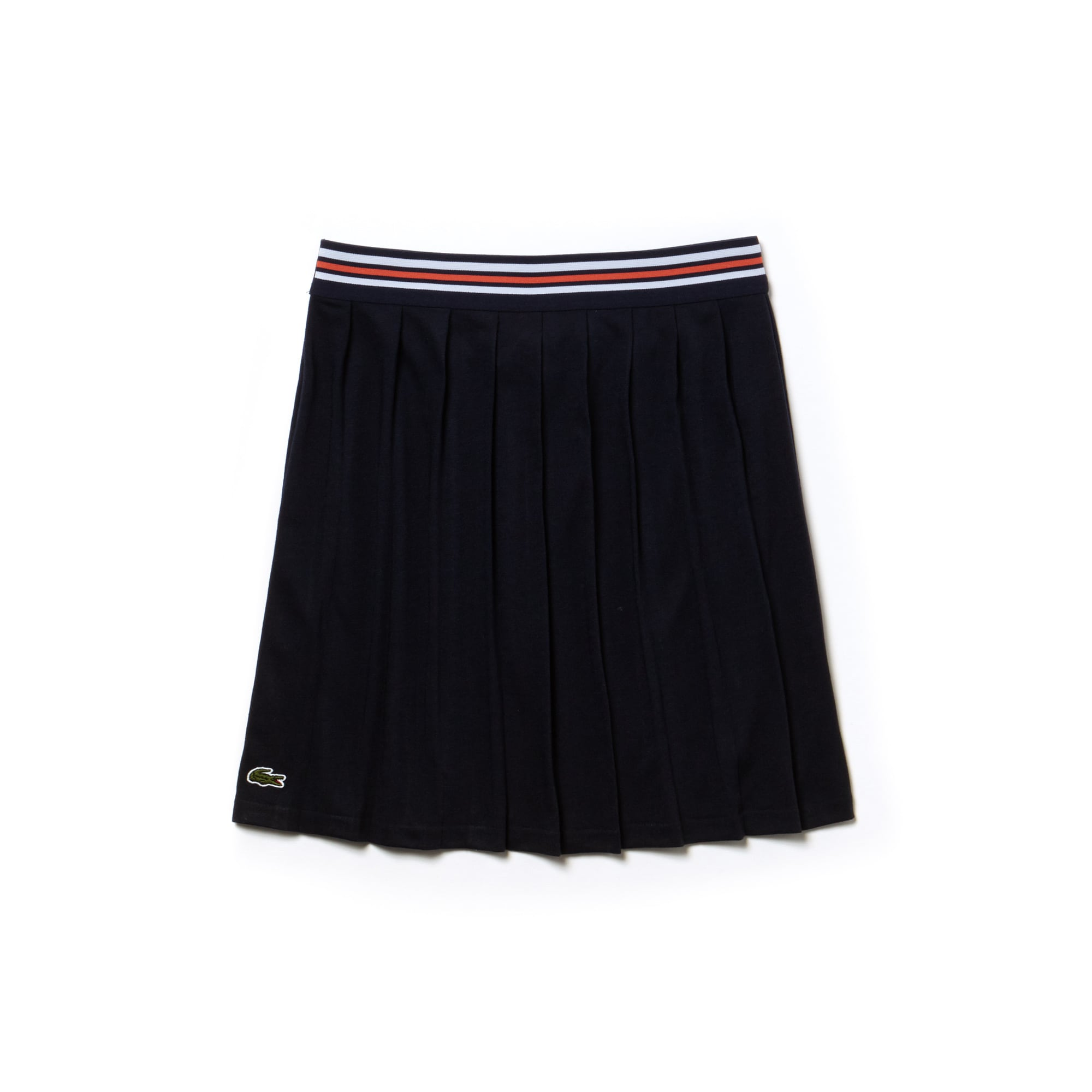 Girls' Striped Belt Pleated Jersey Skirt