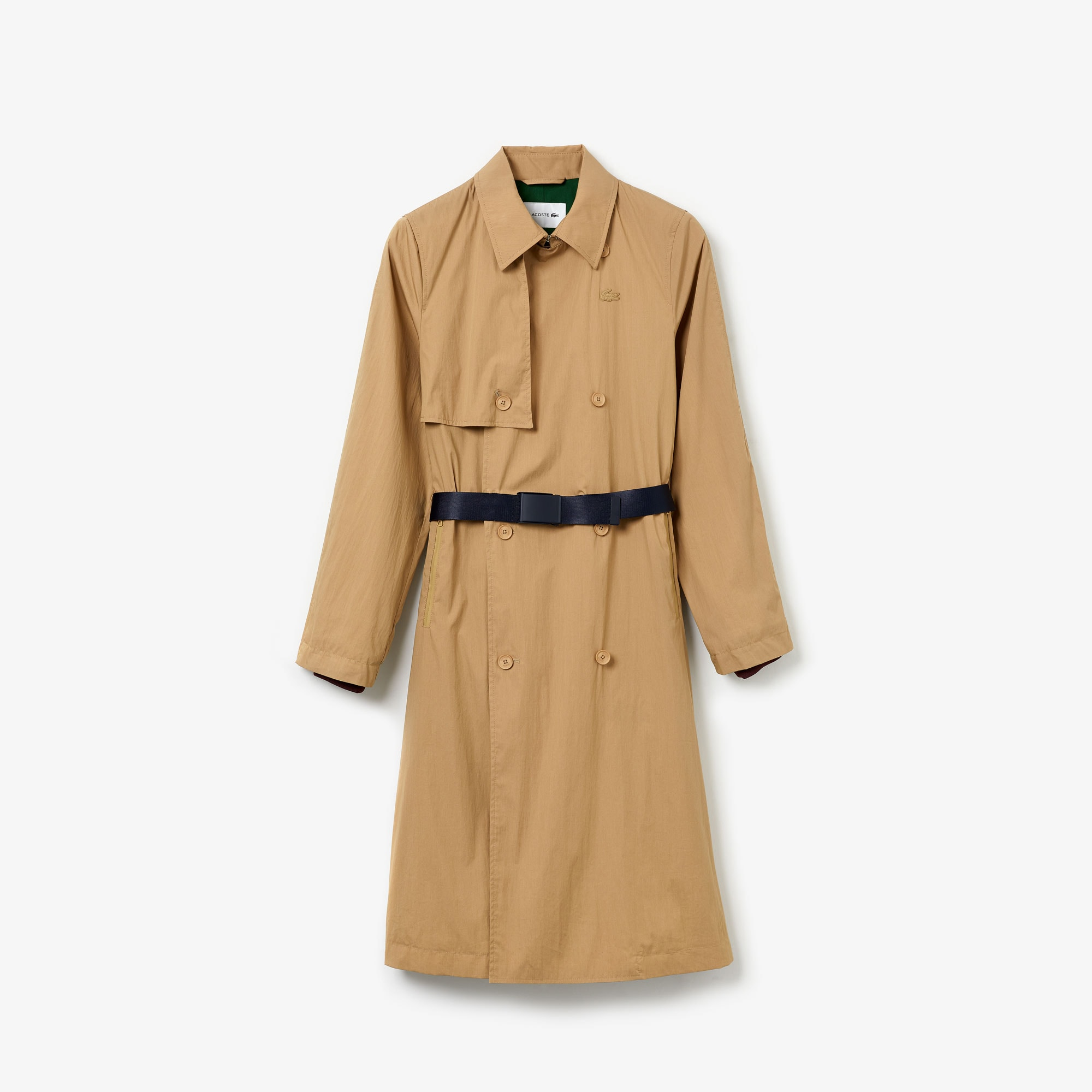 Women's Contrast Belt Trench Coat
