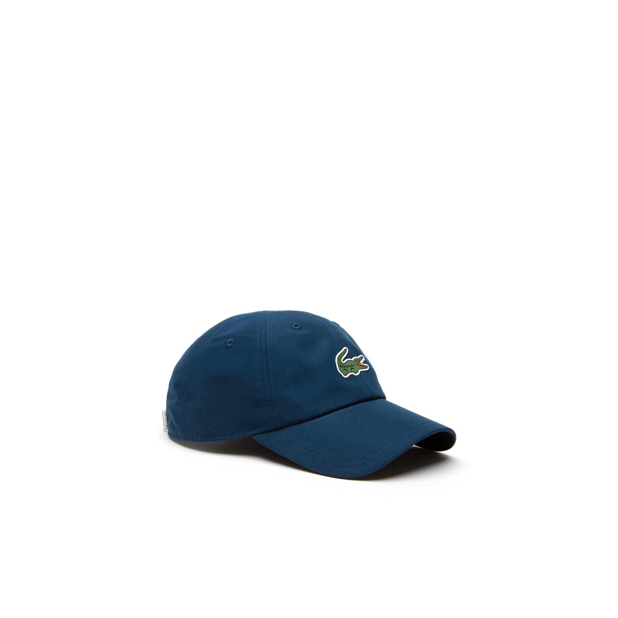 라코스테 Lacoste Mens SPORT Microfiber Cap - x Novak Djokovic On Court Premium Edition,blue / black