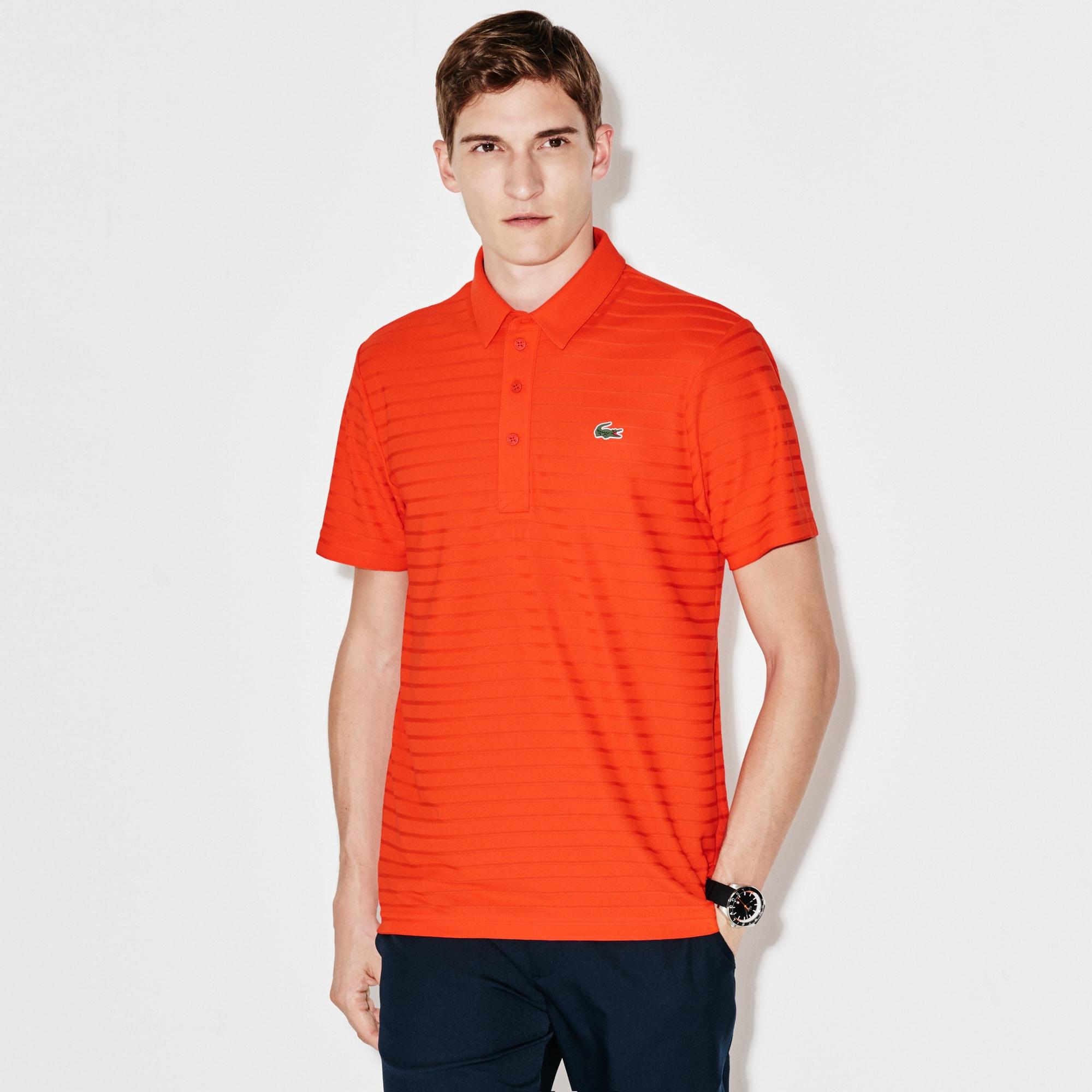 Men's  SPORT Golf Striped Tech Jacquard Jersey Polo