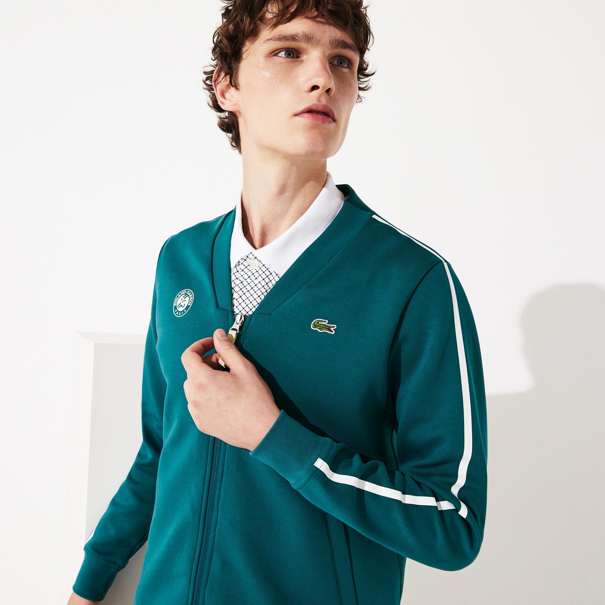 라코스테 스포츠 롤랑가로스 맨투맨 Lacoste Mens SPORT Roland Garros V-Neck Zip Sweatshirt