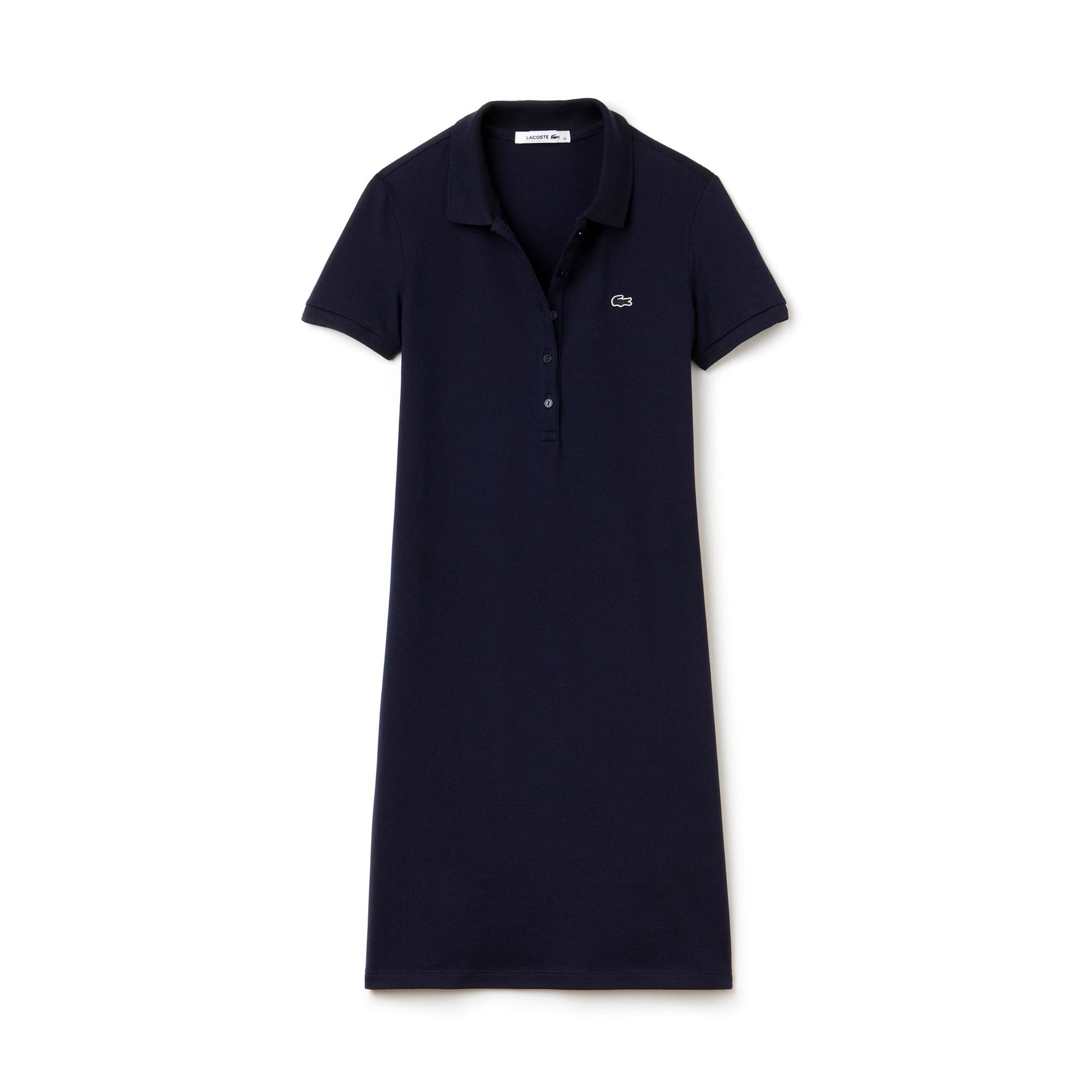Women's Polo dress in stretch mini piqué