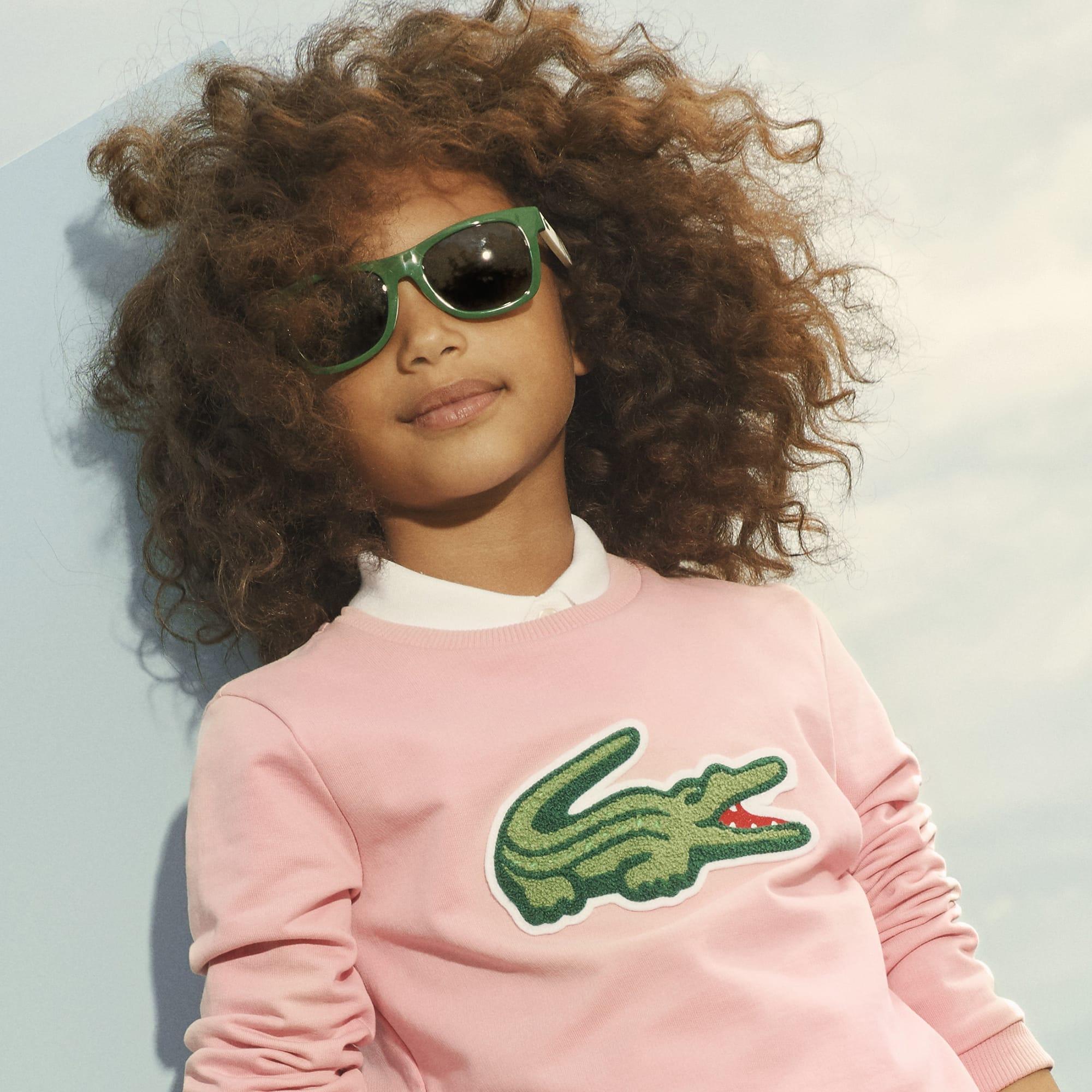 Girls' Oversized Crocodile Sweatshirt