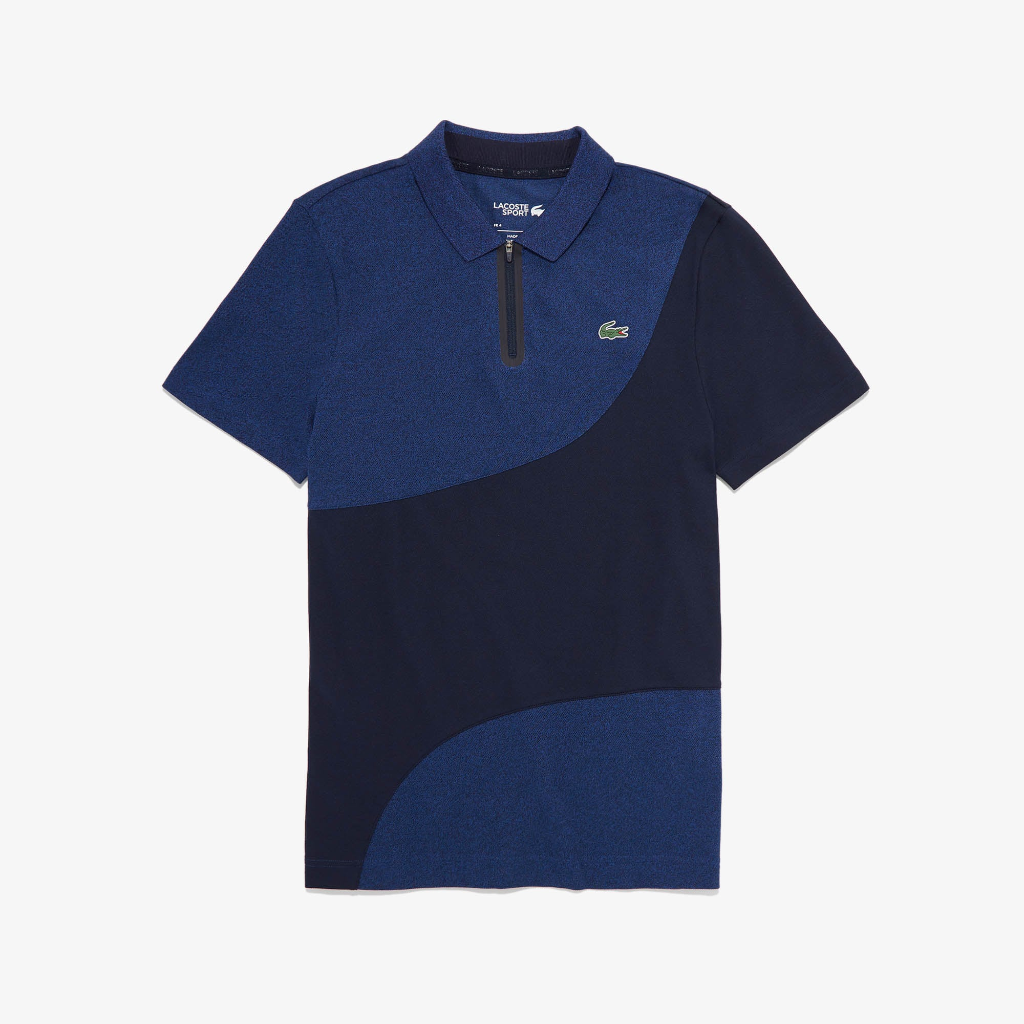 Lacoste Tops Men's SPORT Color-Blocked Breathable Piqué Zip Golf Polo Shirt