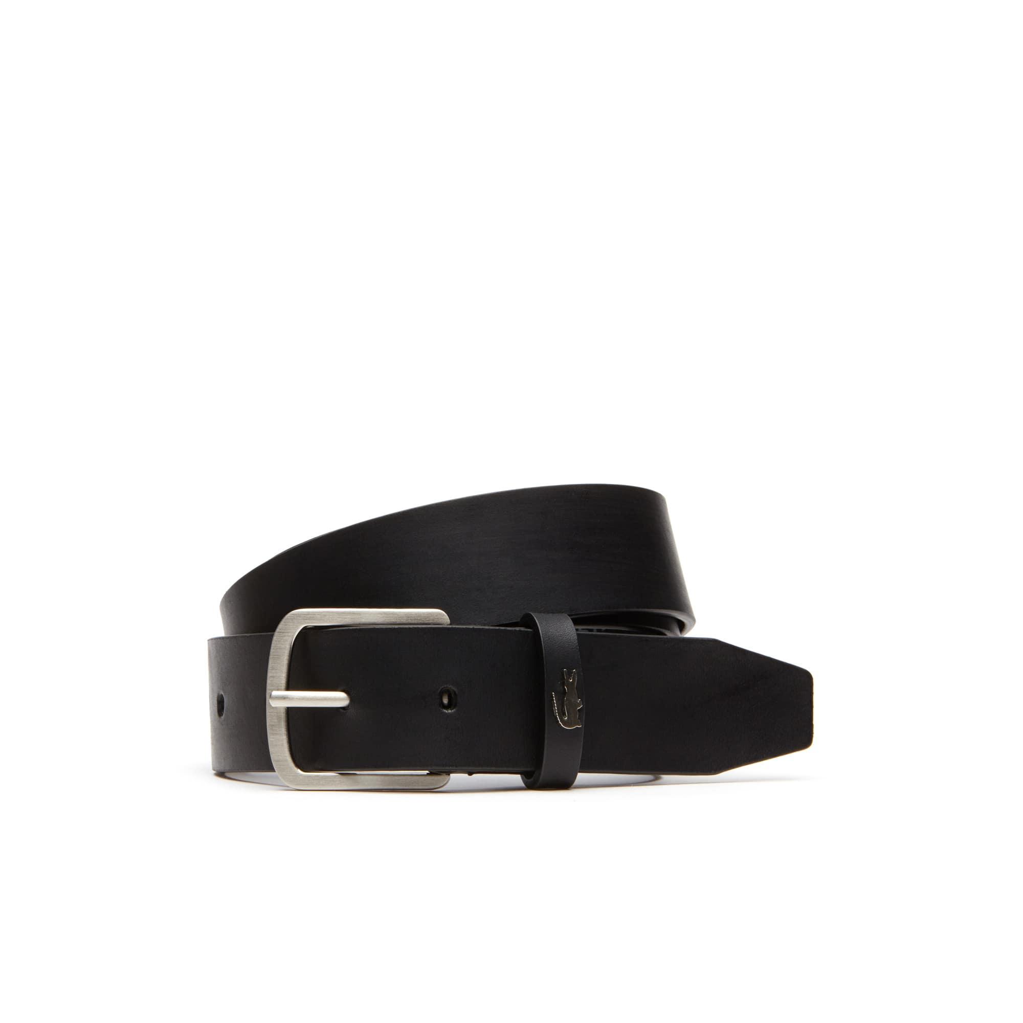 Men's Crocodile Loop Tongue Buckle Leather Belt