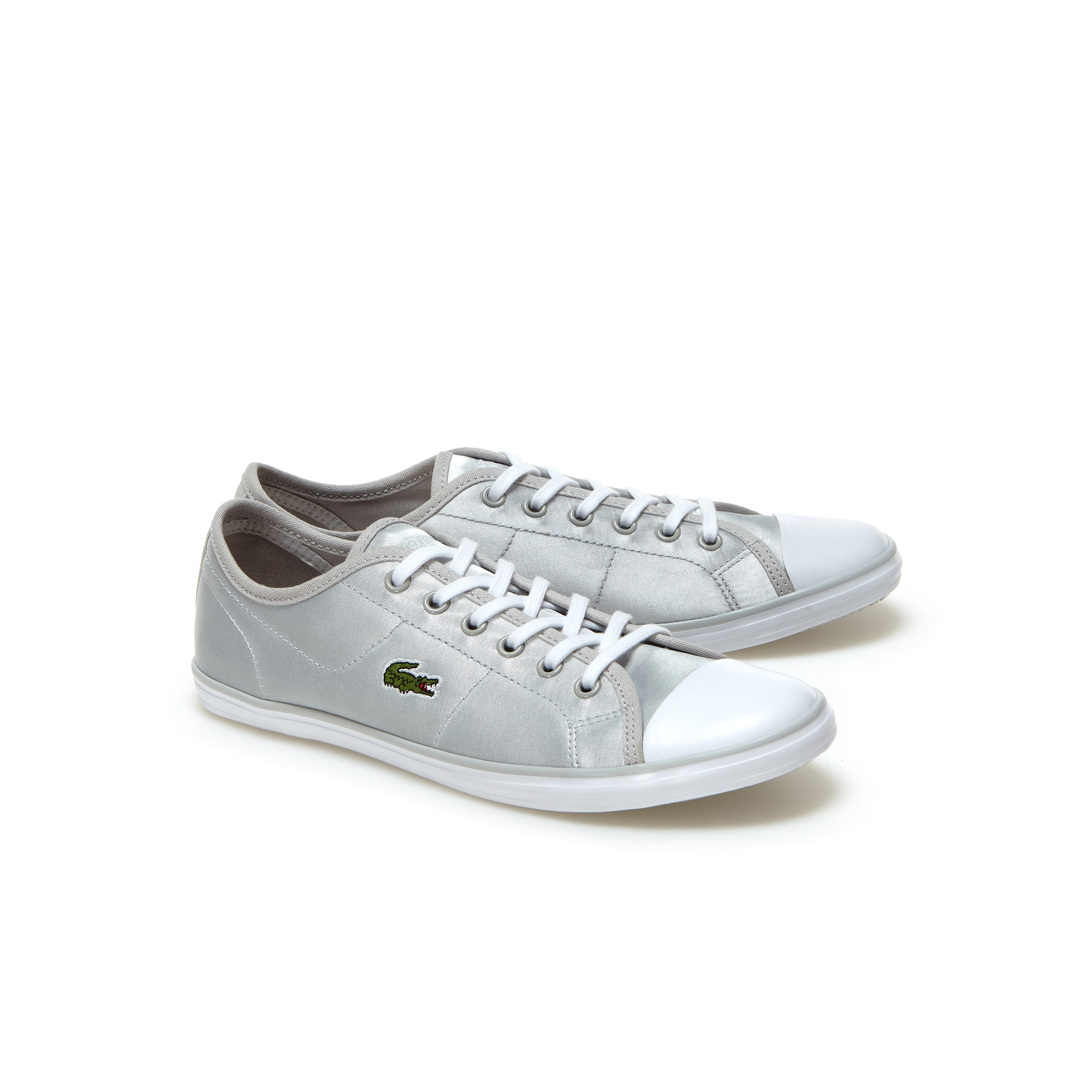 New Womens Lacoste Black Ziane Sneaker Textile Trainers Flats Lace Up