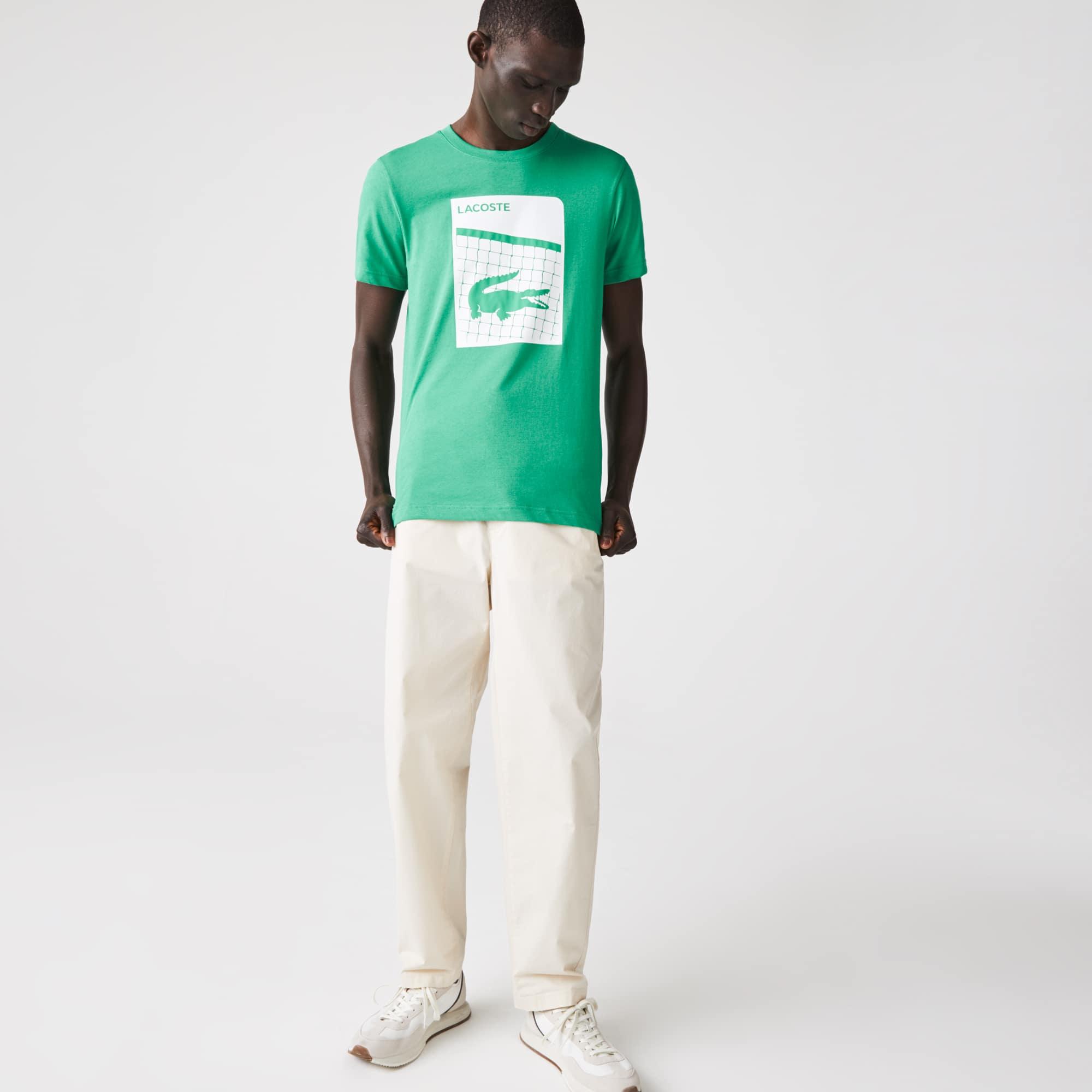 라코스테 Lacoste Men's SPORT 3D Print Breathable T-shirt