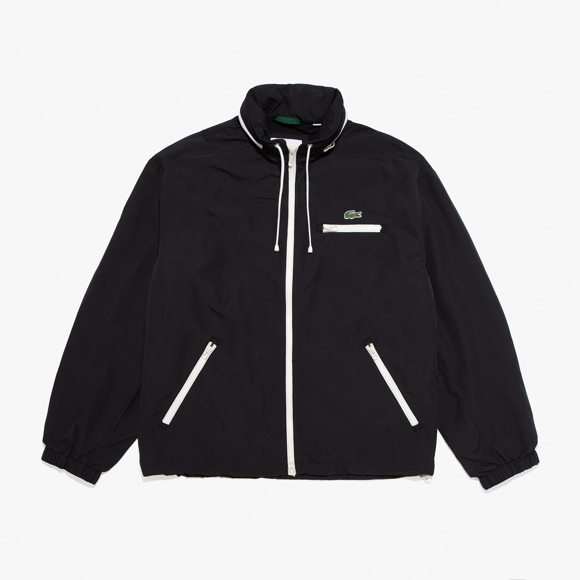 라코스테 Lacoste Mens Lightweight Water-Resistant Hooded Windbreaker