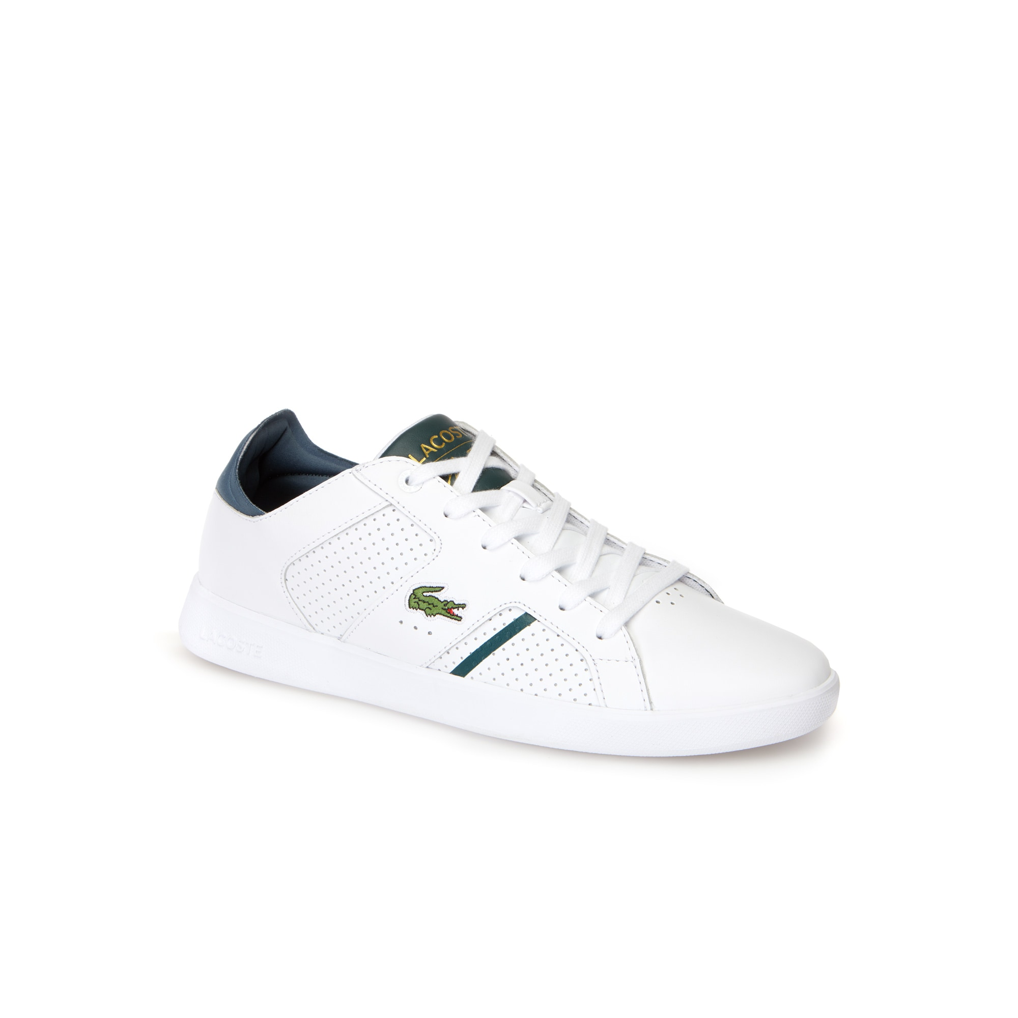 ab7e4a2dccb8 Lacoste Men S Novas Ct Leather Trainers In White Dark Green