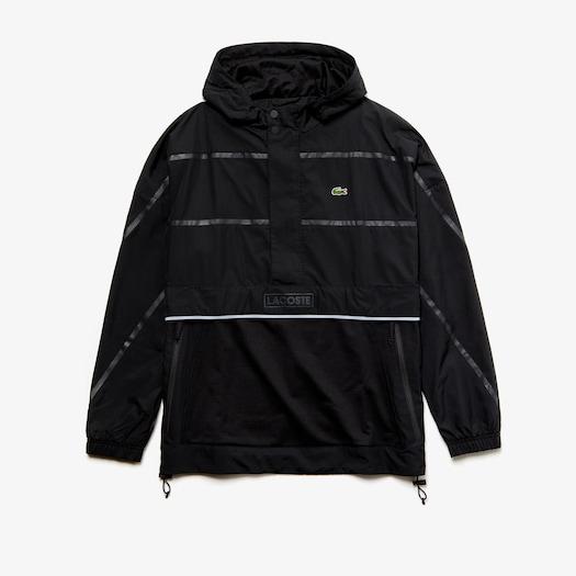 라코스테 Lacoste Mens SPORT Water-Resistant Windbreaker,Black / Black - C31 (Selected colour)