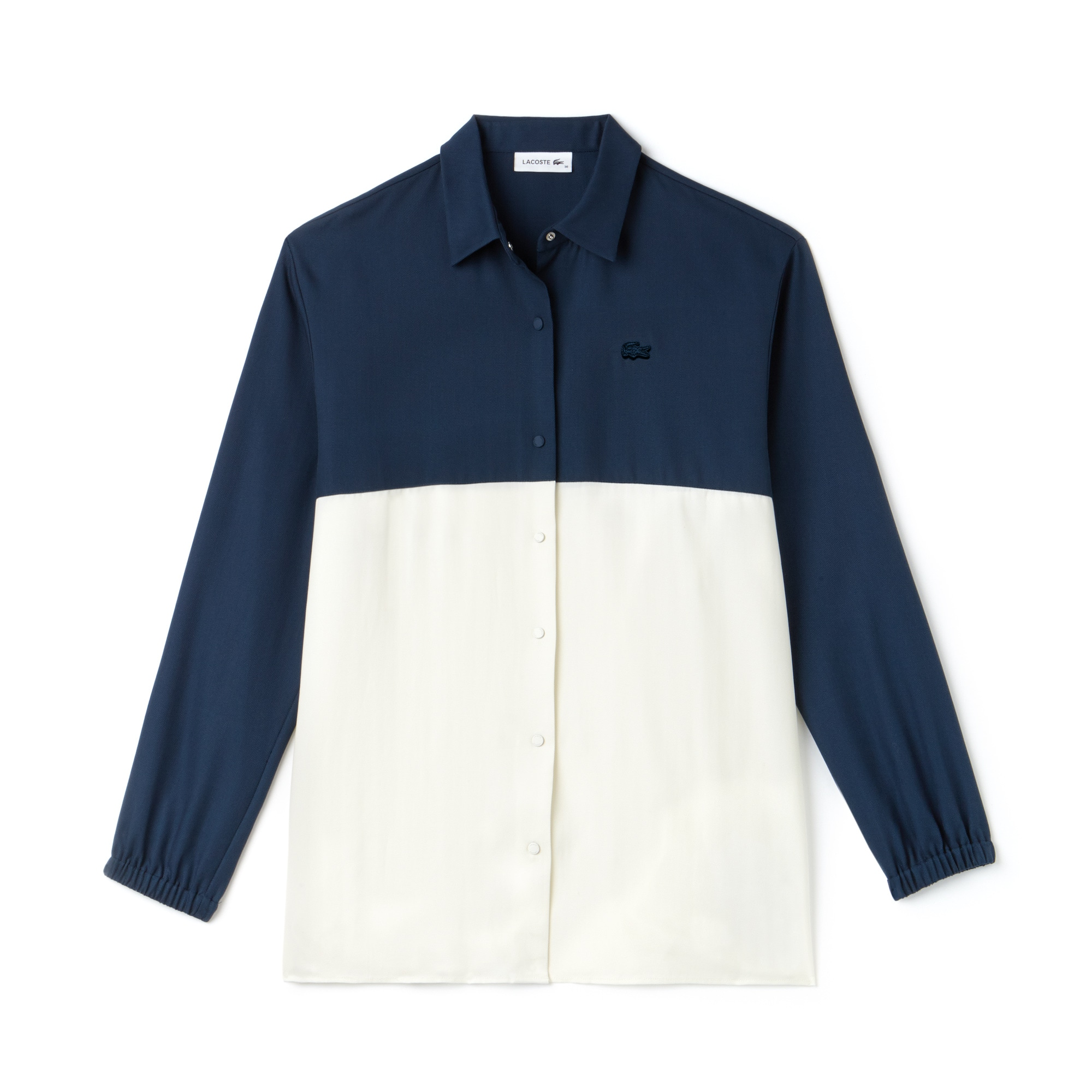 Women's Regular Fit Bicolour Flowing Piqué Shirt