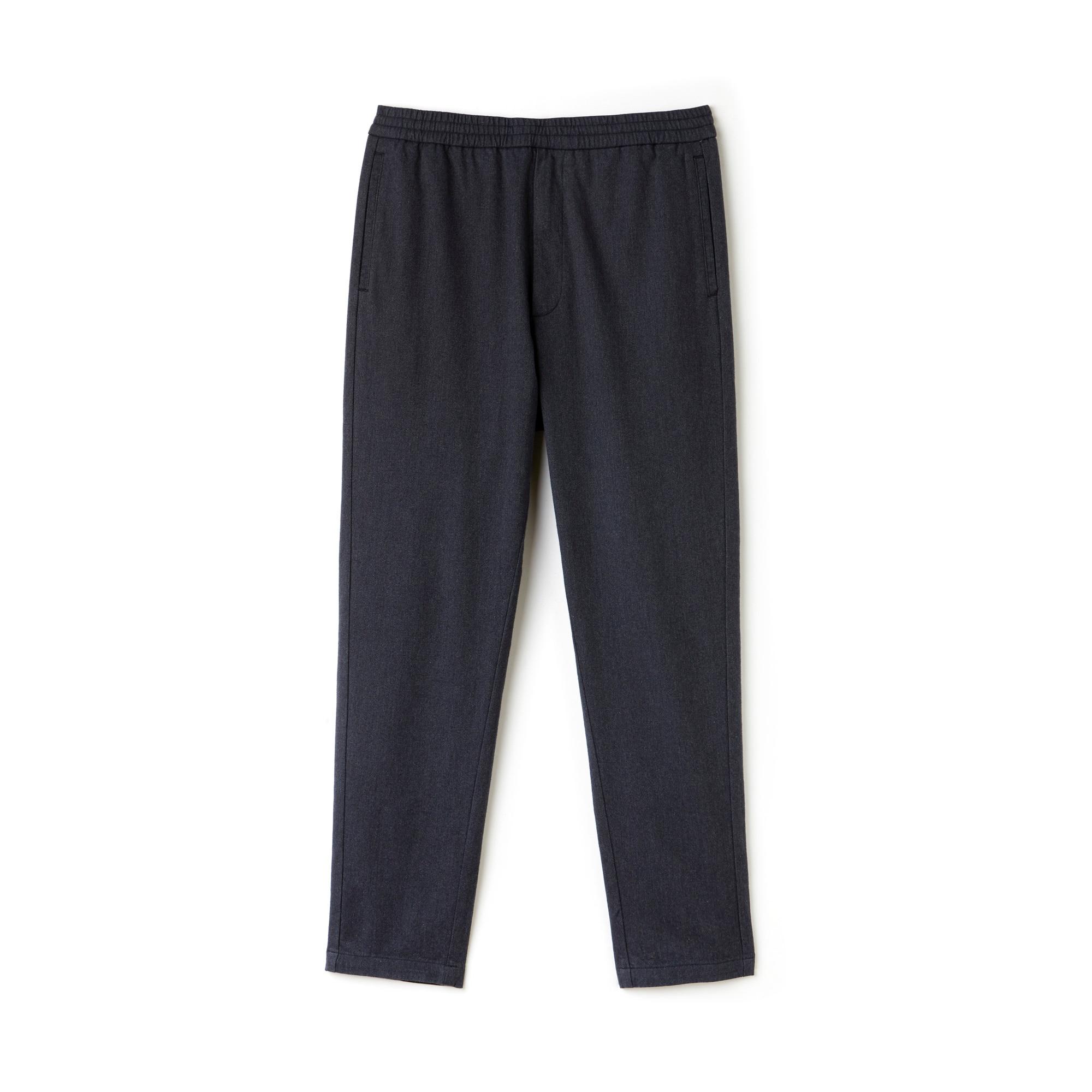 Men's Slim Fit Elasticized Cotton Twill Chino Pants