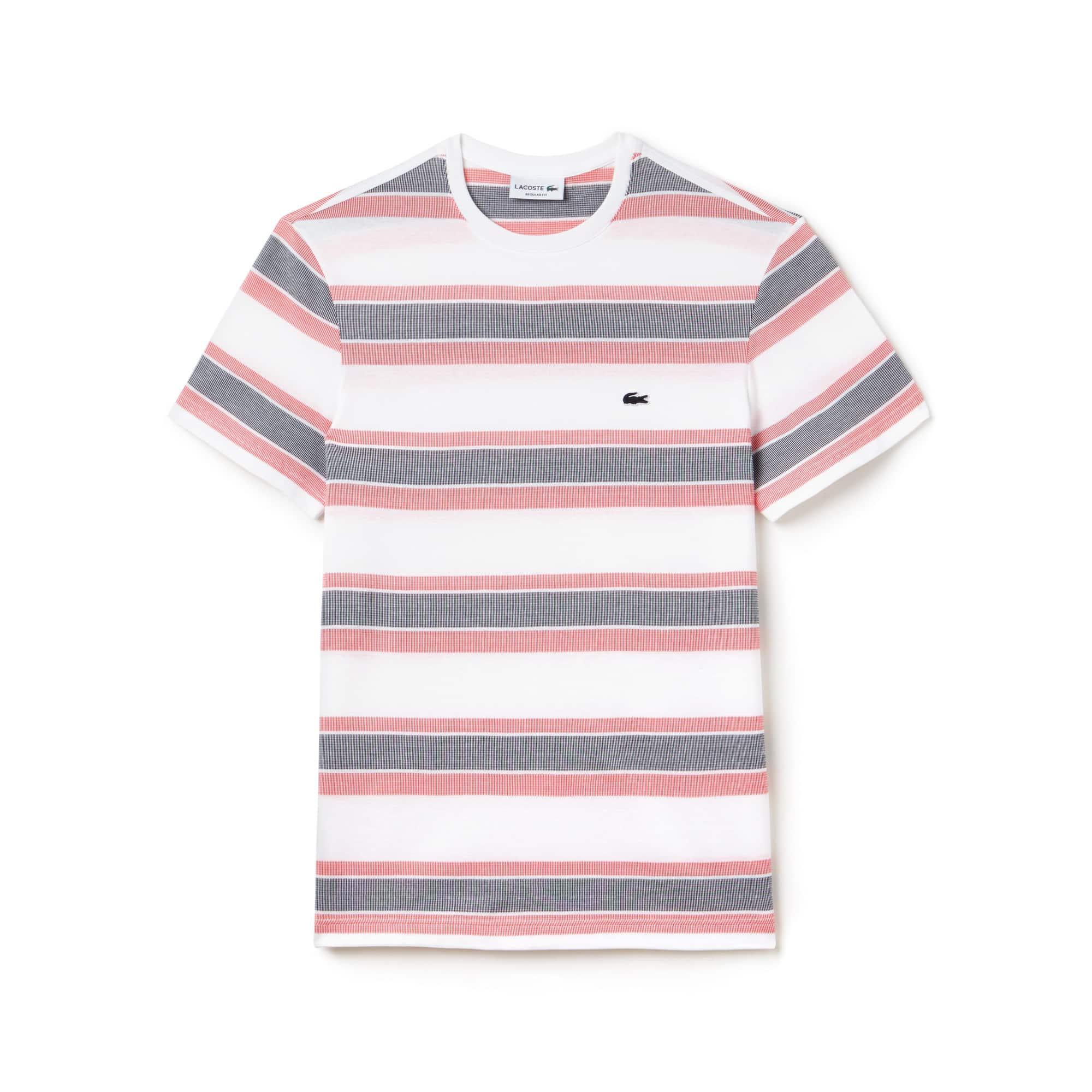 Men's Crew Neck Striped Jacquard Jersey T-Shirt