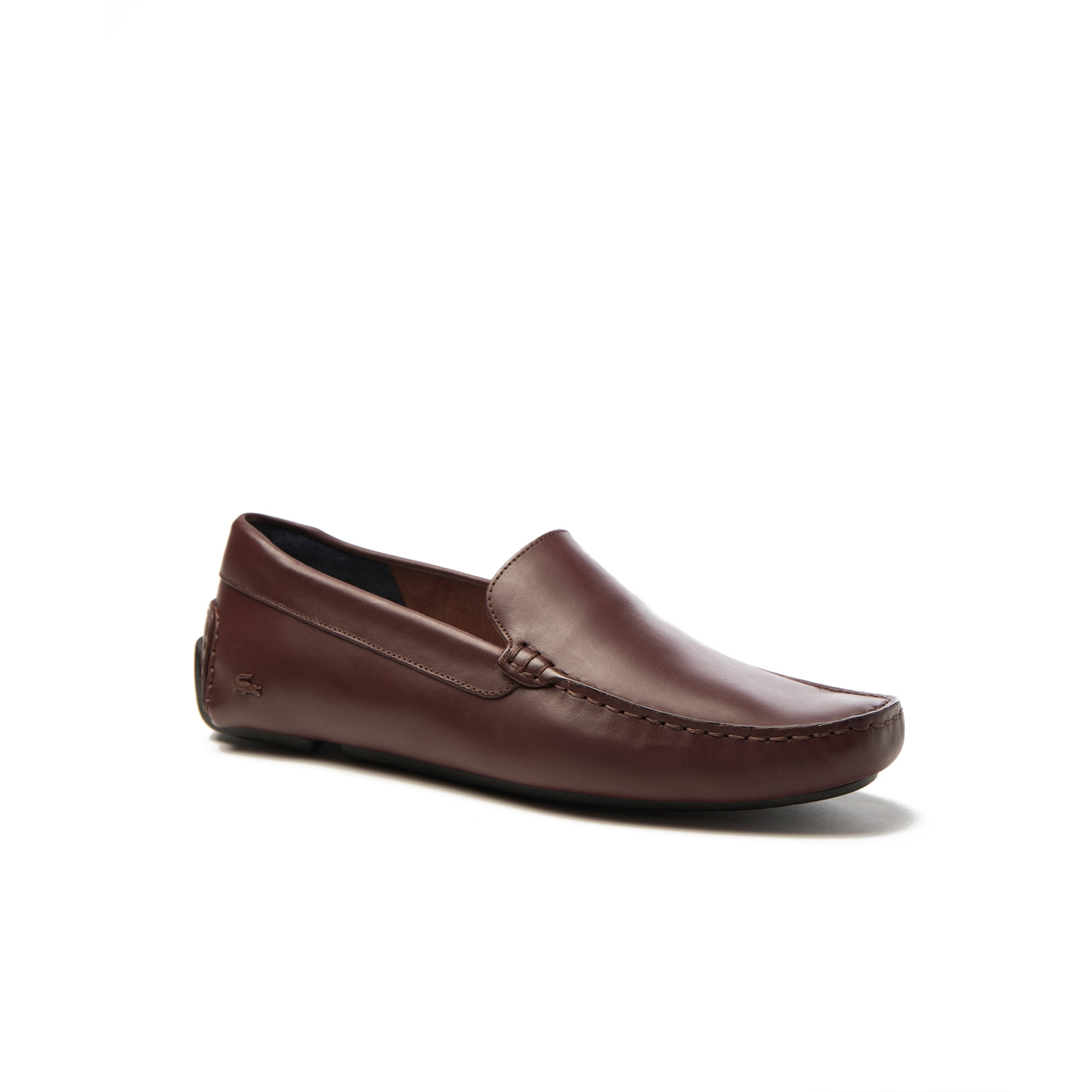 라코스테 모카신 Lacoste Mens Piloter Leather Moccasins,dark brown