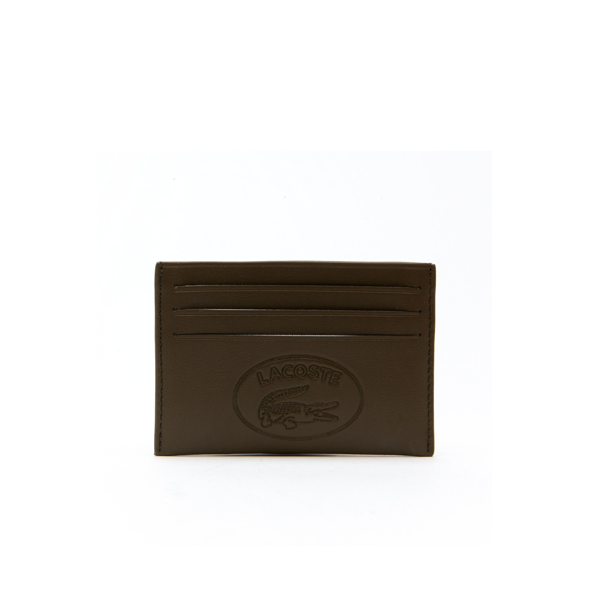 Men's L.12.12 Casual Embossed Lettering Leather 6 Card Holder