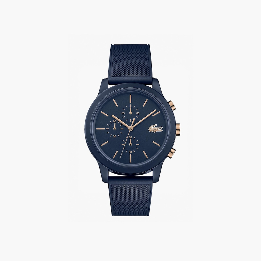 Men's Lacoste.12.12 Watch with Navy Silicone Petit Piqué Strap