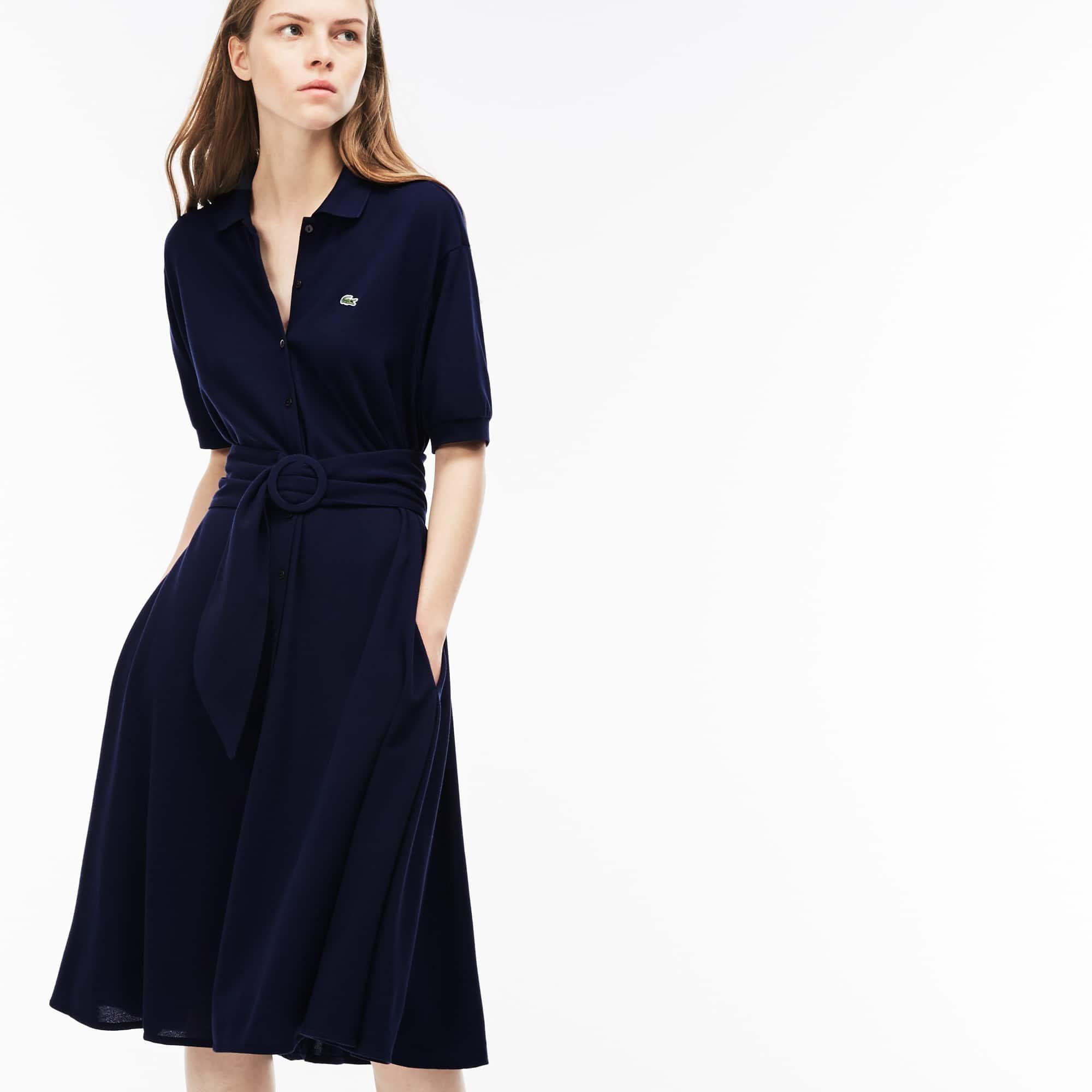 Robe polo bleu marine lacoste