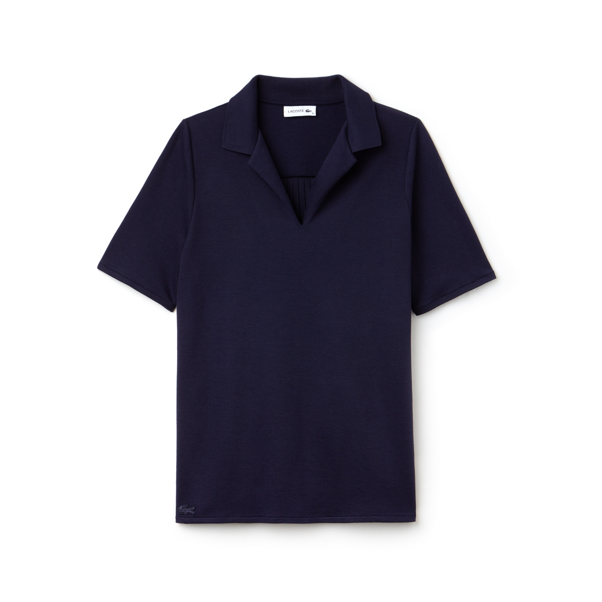 Women's Pleated Panel Piqué Polo