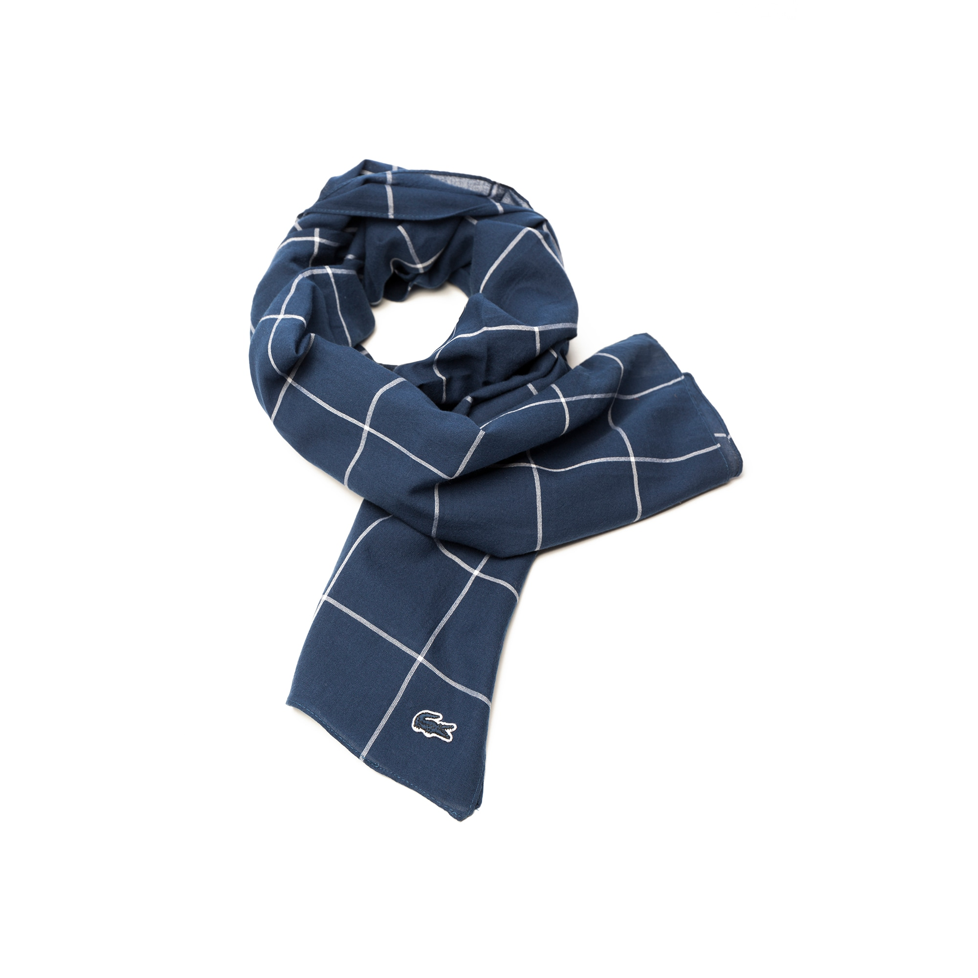 Men's Net Print Cotton Twill Scarf