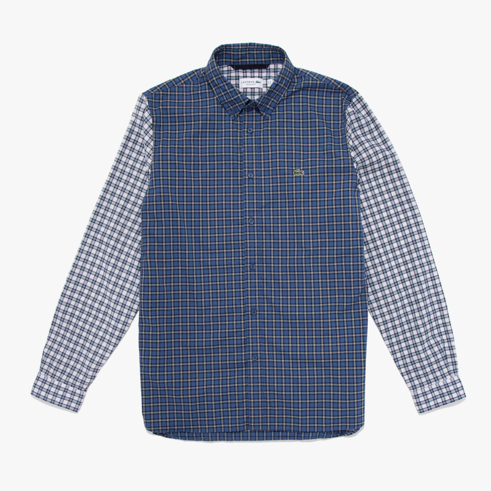 Lacoste Tops Men's Mixed-Plaid Button Down Shirt